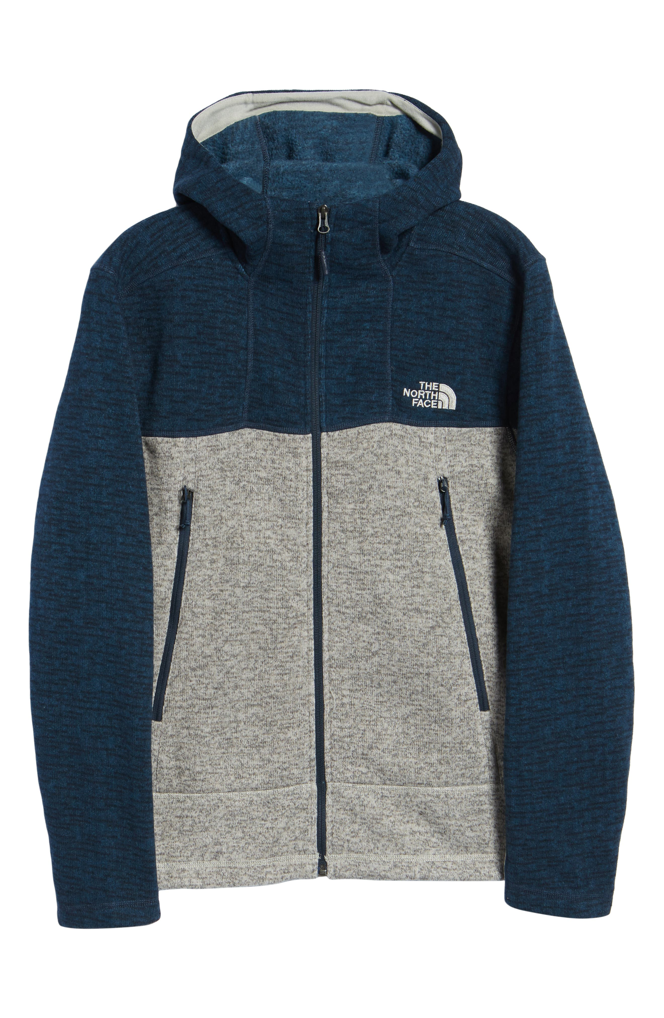 Gordon Lyons Alpine Sweater Fleece Hoodie,                             Alternate thumbnail 7, color,                             URBAN NAVY/ GRANITE BLUFF TAN