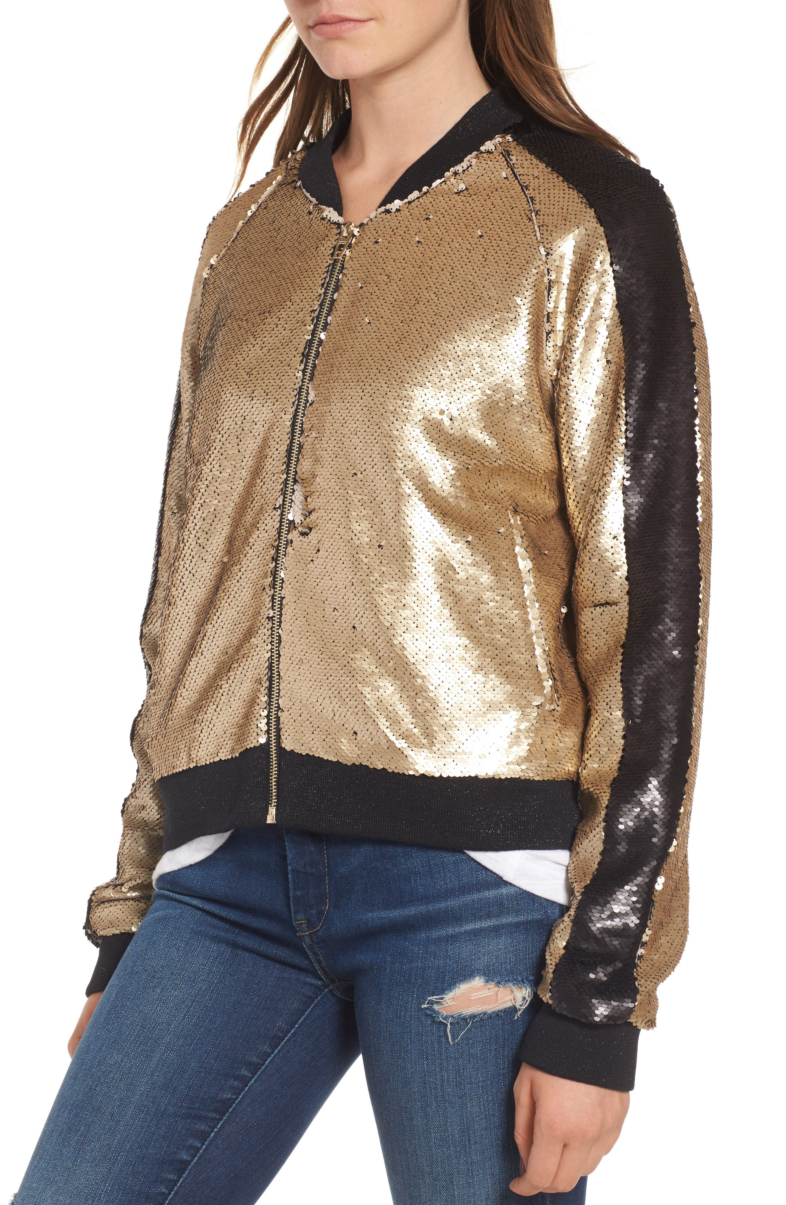Sequin Bomber Jacket,                             Alternate thumbnail 4, color,                             710