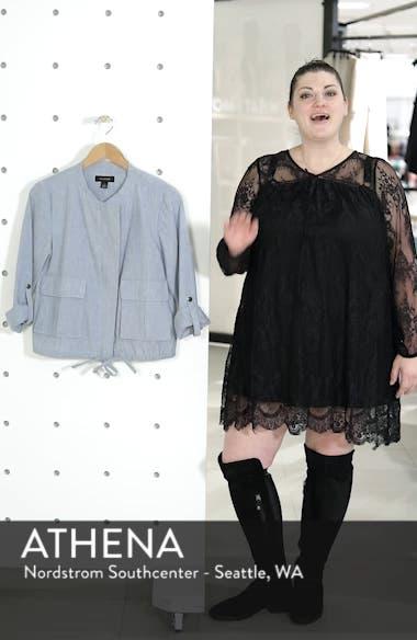 Linen Blend Chambray Tie Waist Jacket, sales video thumbnail