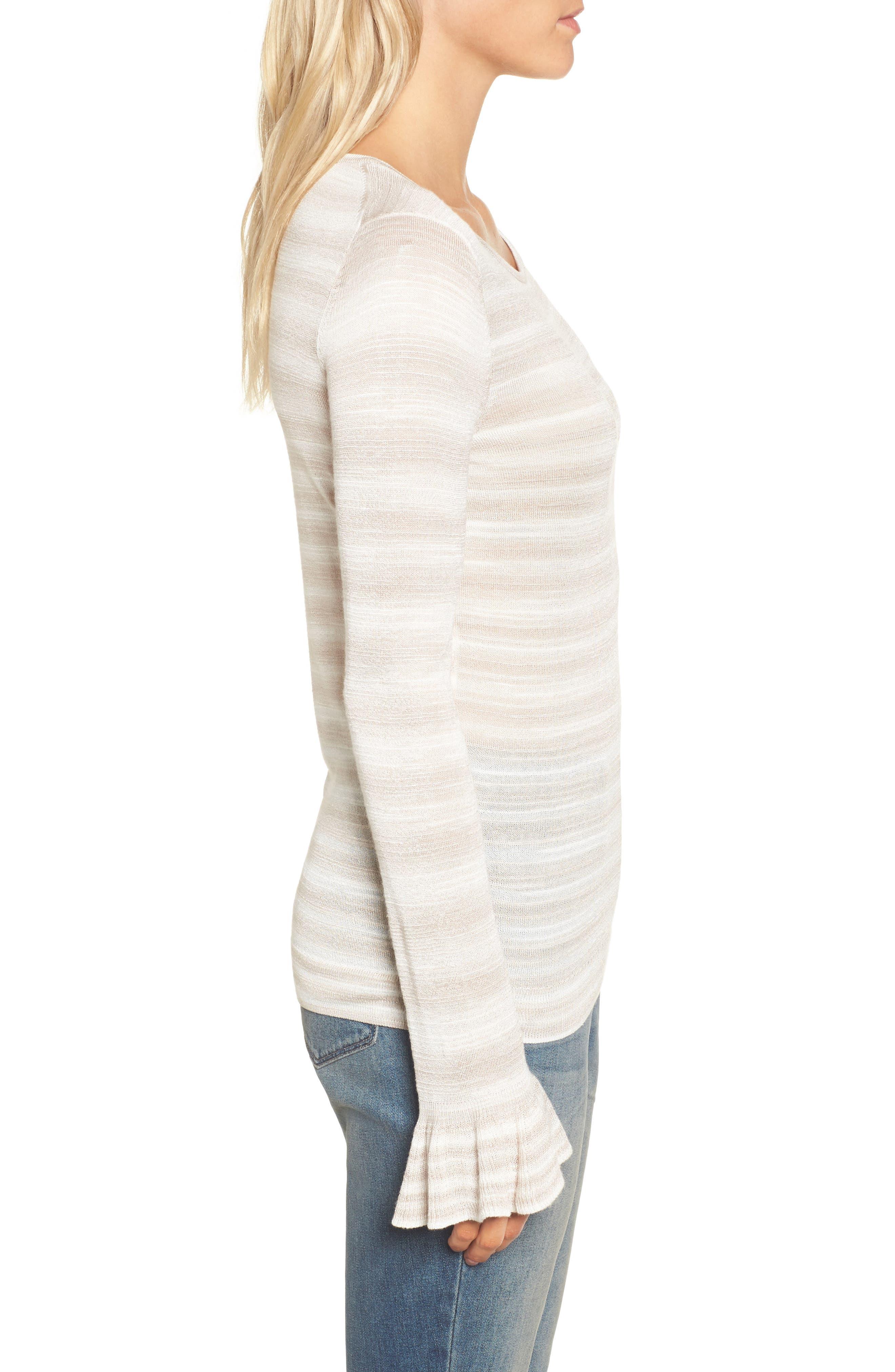 Gradient Stripe Sweater,                             Alternate thumbnail 3, color,                             250