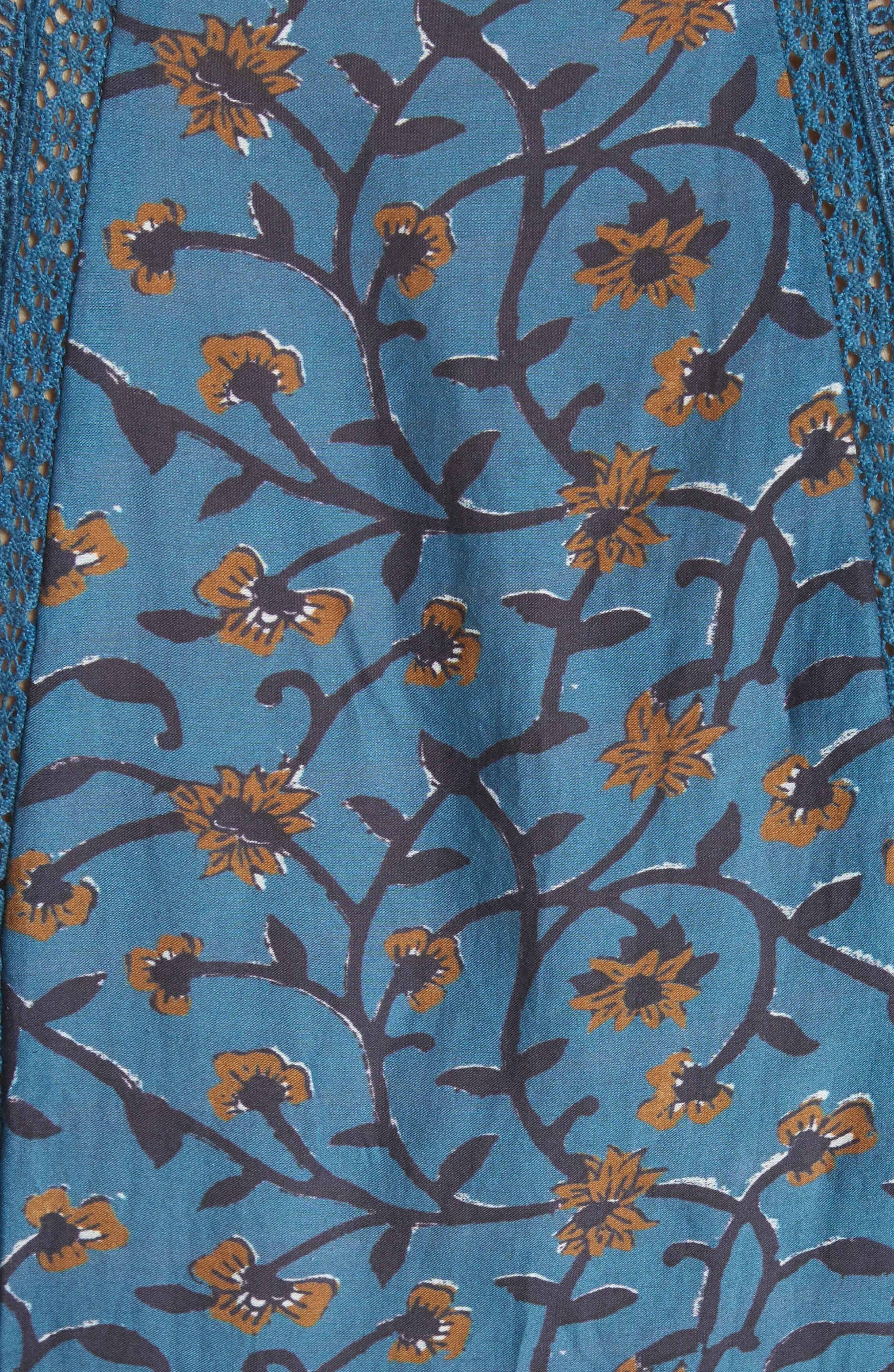 Kaylee Crochet Pompom Dress,                             Alternate thumbnail 5, color,                             400