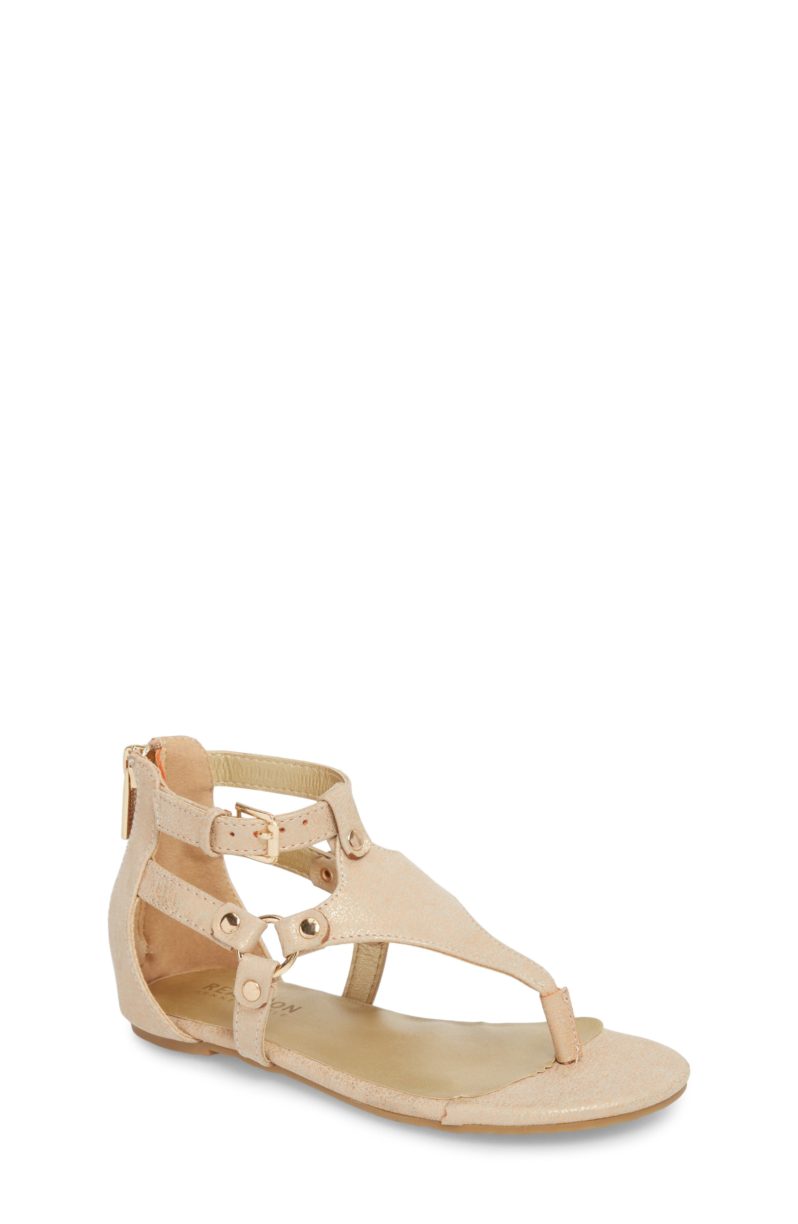 Reaction Kenneth Cole Kiera Metallic Thong Sandal,                         Main,                         color,