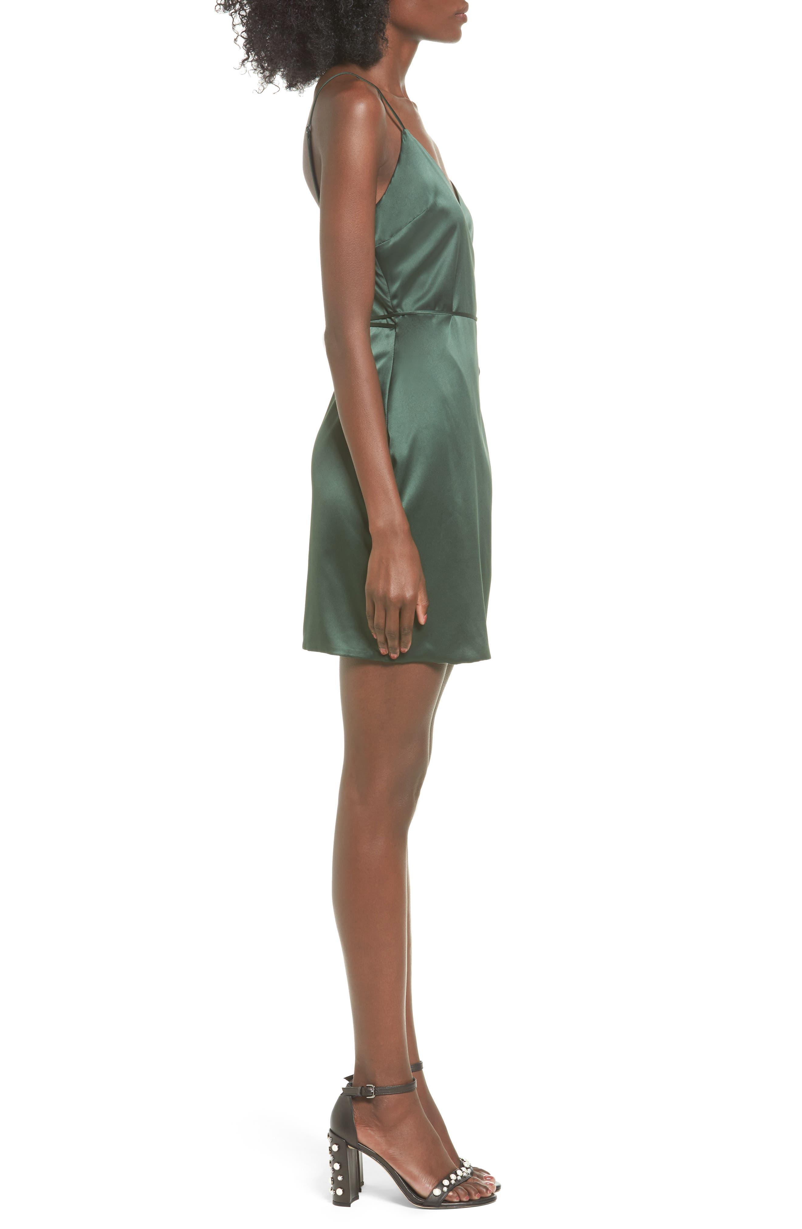 Nina Wrap Minidress,                             Alternate thumbnail 3, color,                             300