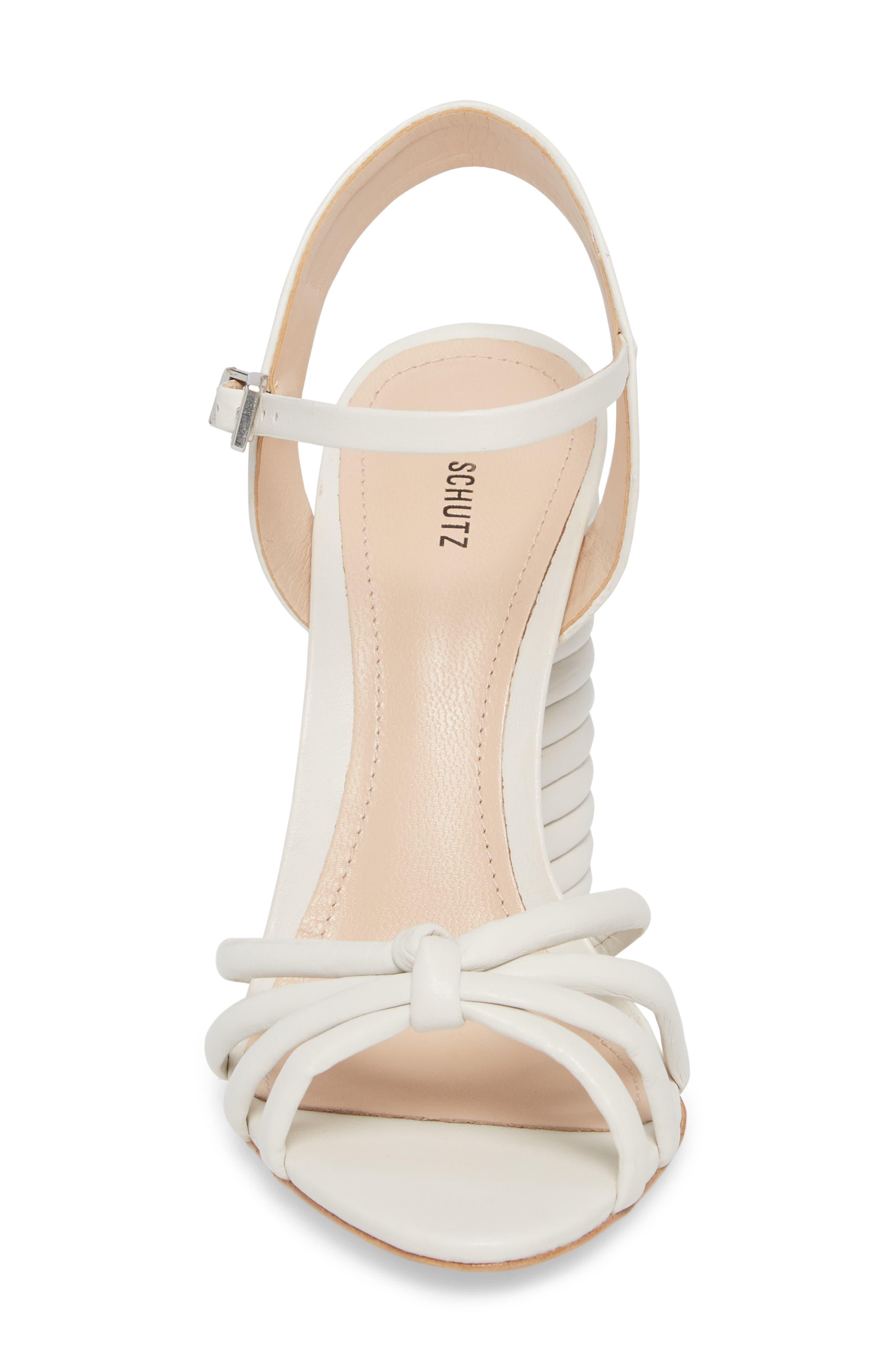 Paolla Column Heel Sandal,                             Alternate thumbnail 4, color,                             100