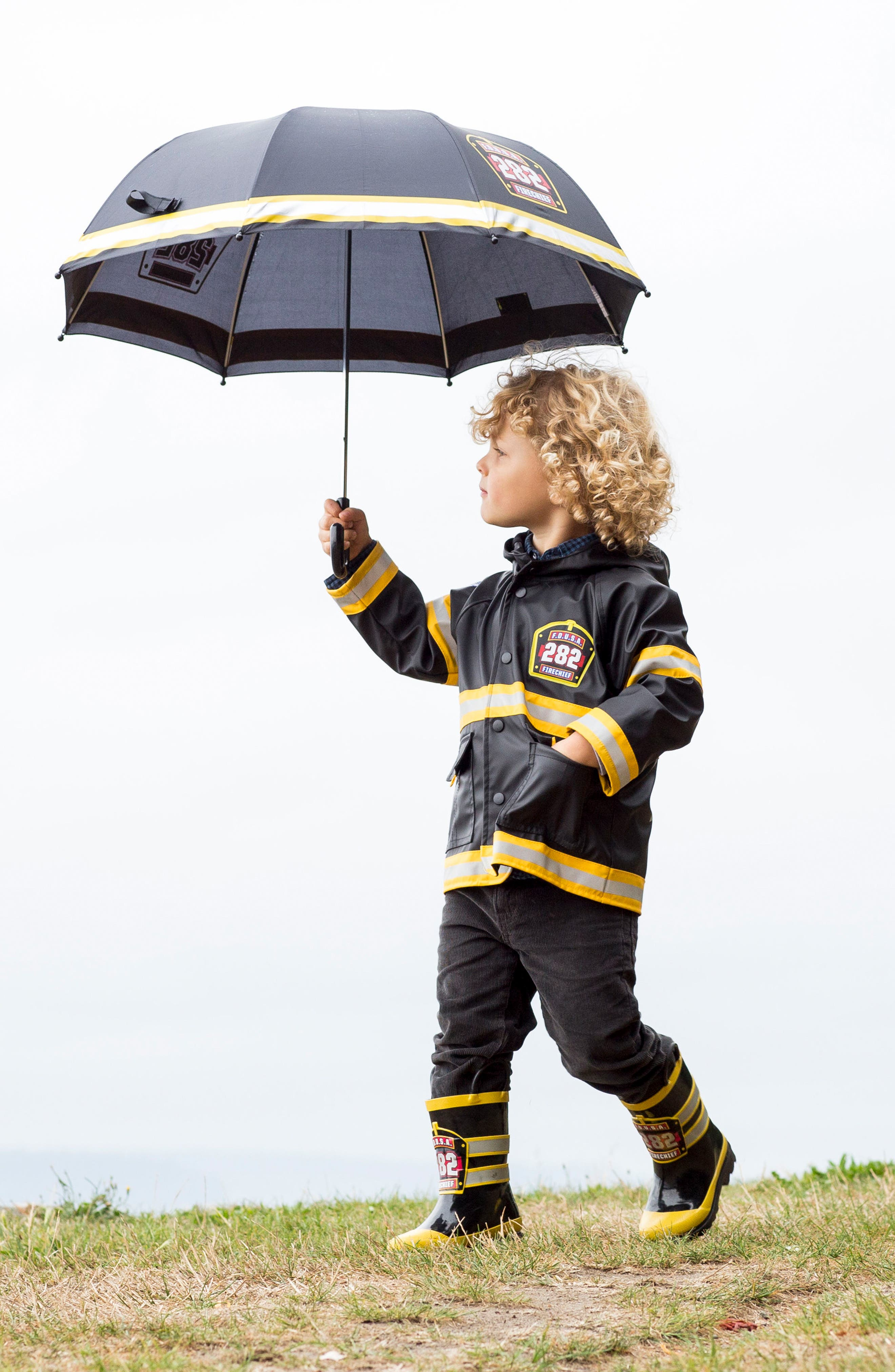 WESTERN CHIEF,                             Fire Chief Raincoat,                             Alternate thumbnail 5, color,                             BLACK