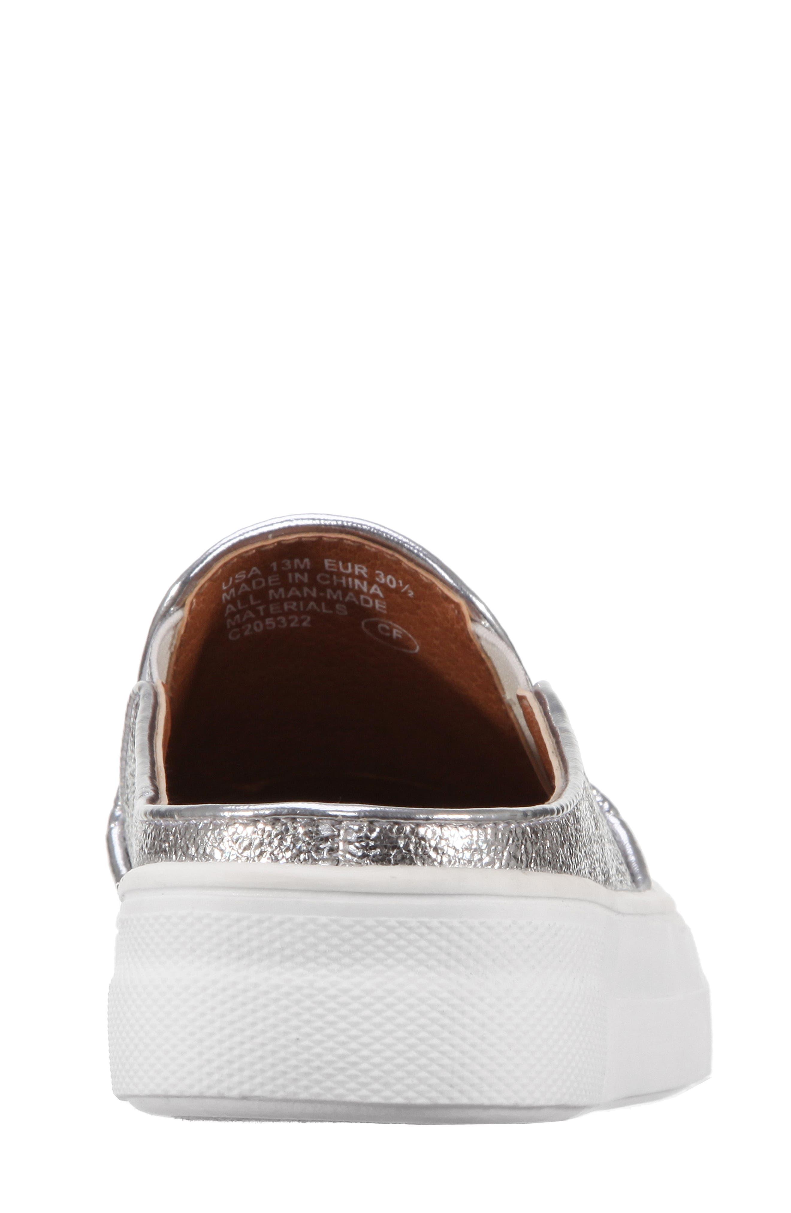 Gail Metallic Slip-On Sneaker Mule,                             Alternate thumbnail 2, color,                             044