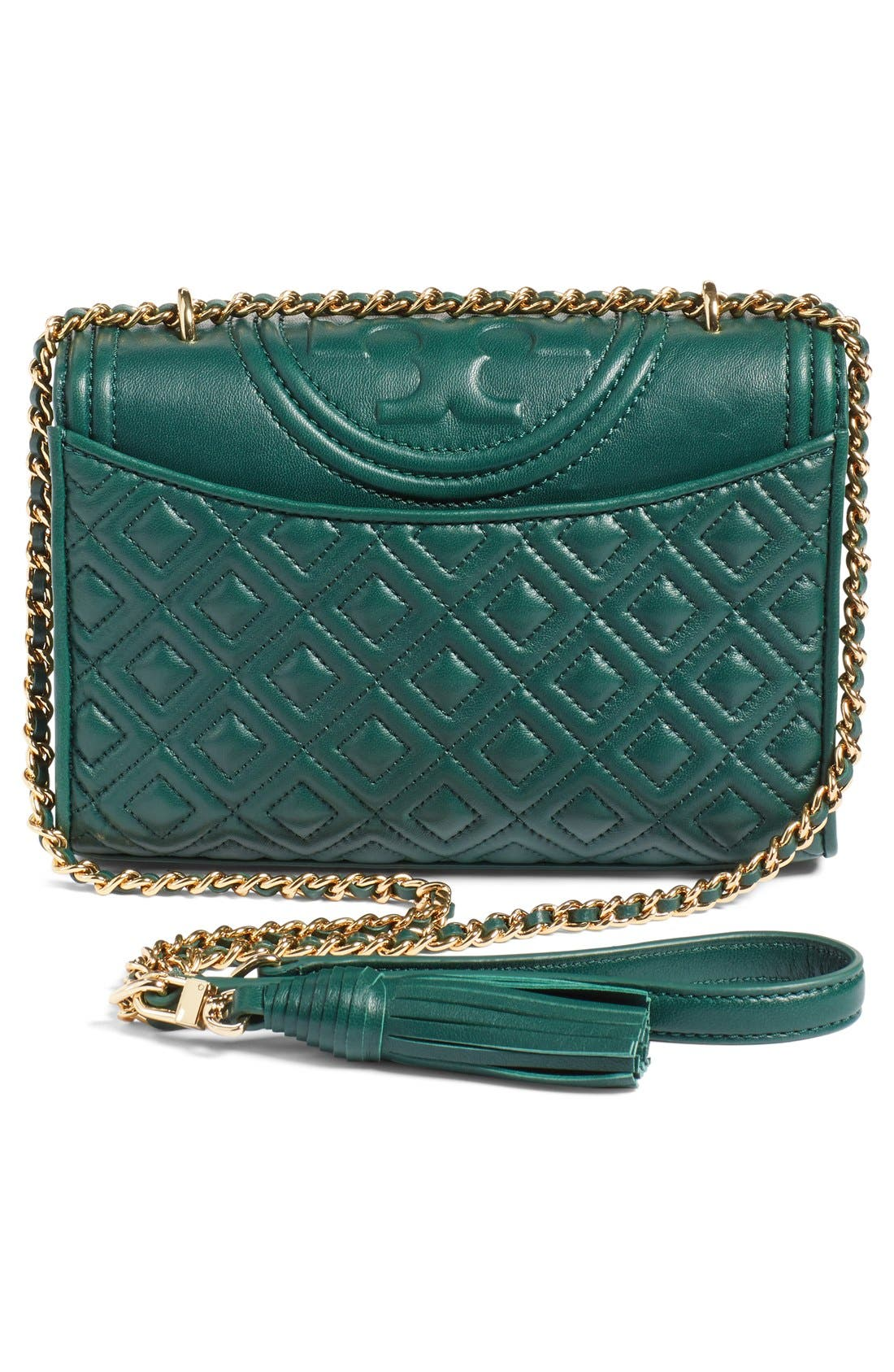 'Small Fleming' Quilted Leather Shoulder Bag,                             Alternate thumbnail 11, color,