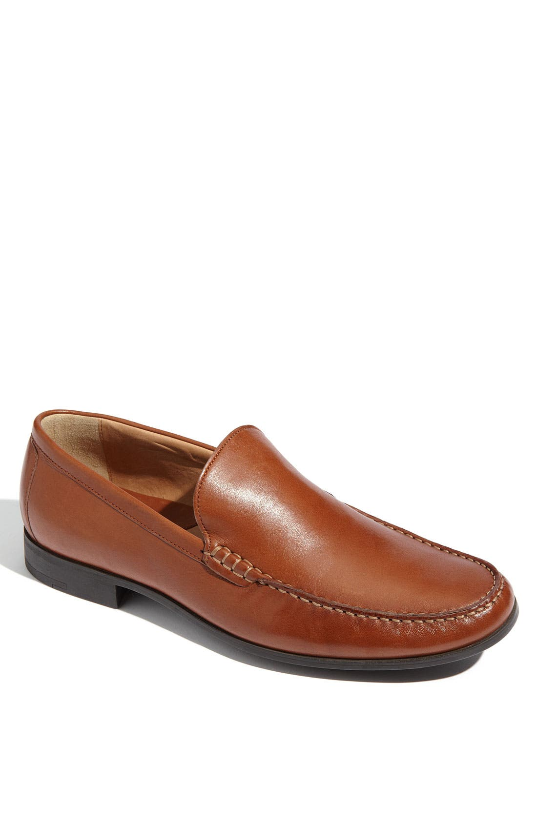 JOHNSTON & MURPHY 'Creswell' Venetian Slip-On, Main, color, COGNAC