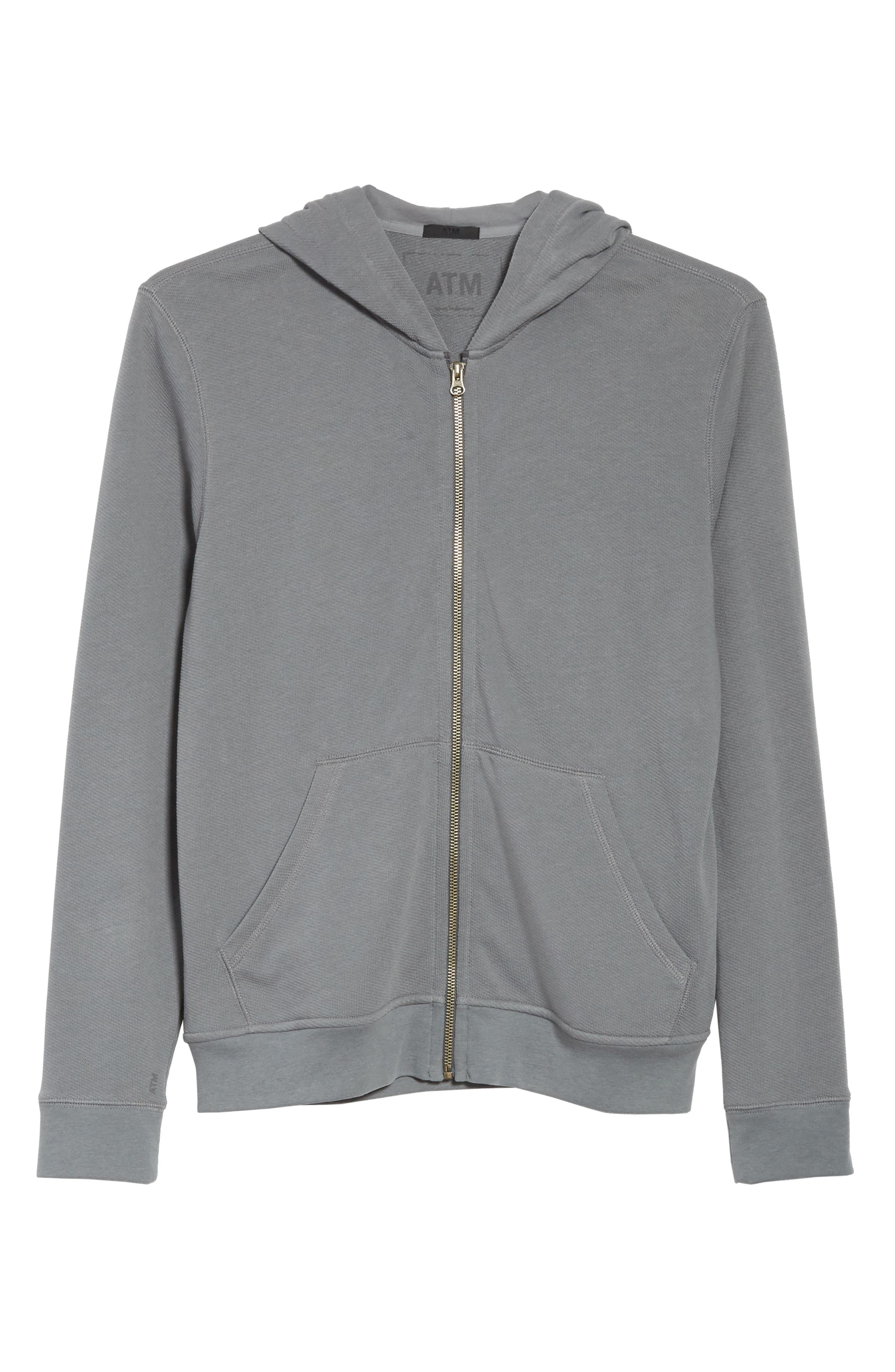 French Terry Zip Hoodie,                             Alternate thumbnail 6, color,                             024