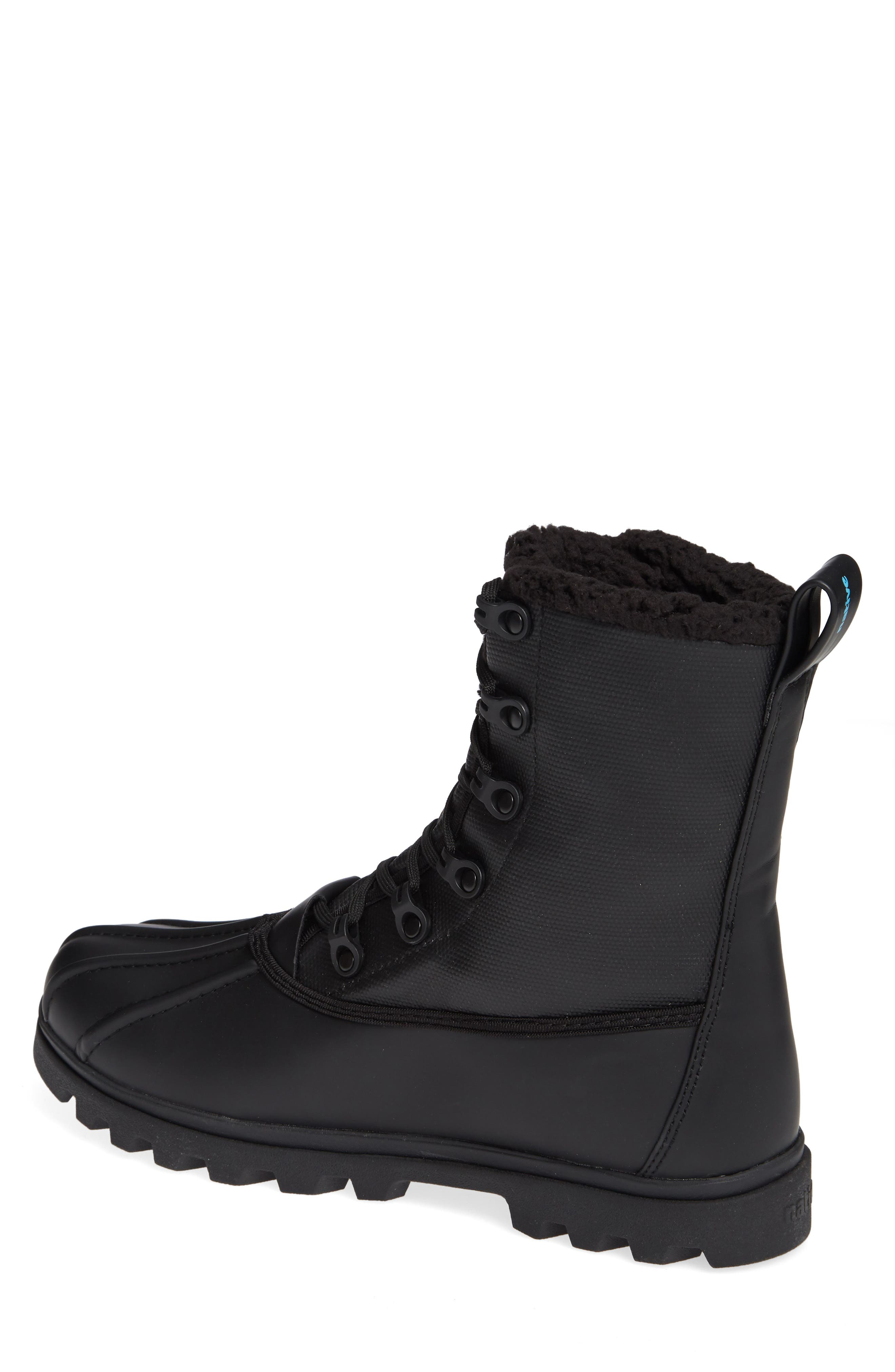 Native Jimmy Treklite Water Repellent Boot with Faux Shearling Liner,                             Alternate thumbnail 2, color,                             JIFFY BLACK/ JIFFY BLACK