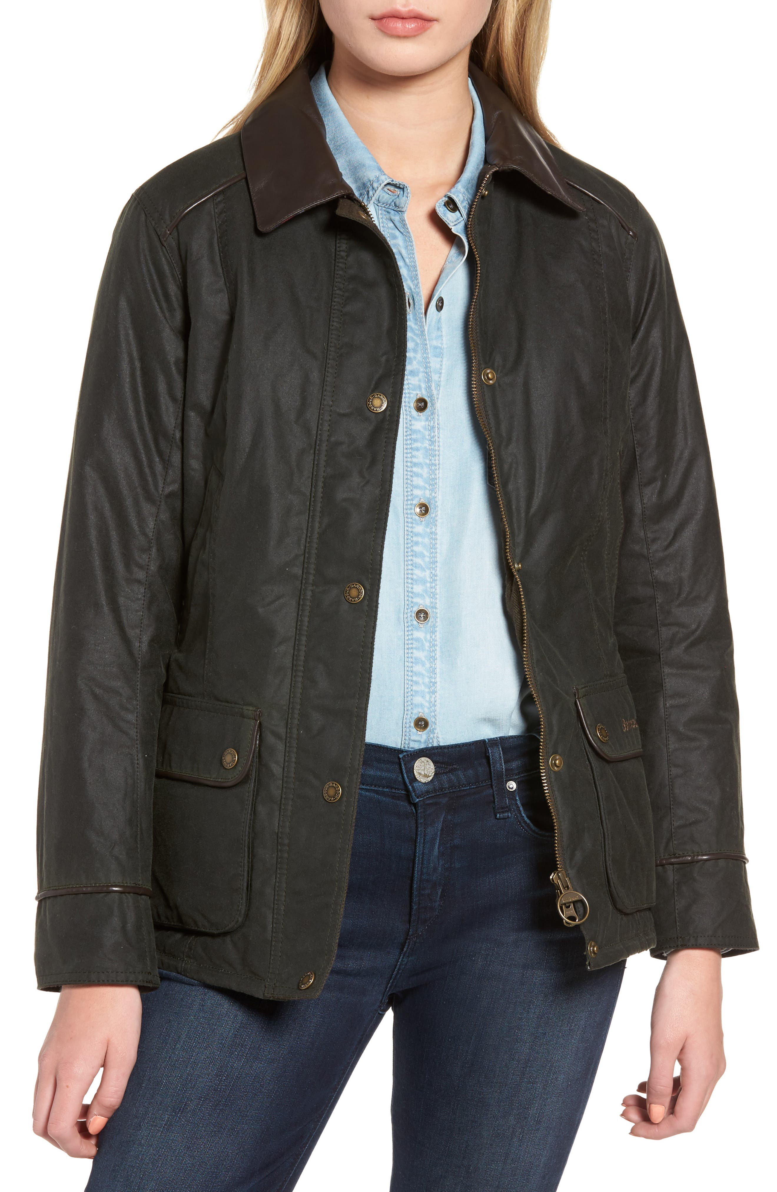 Castlebay Water Resistant Waxed Canvas Jacket, Main, color, 302