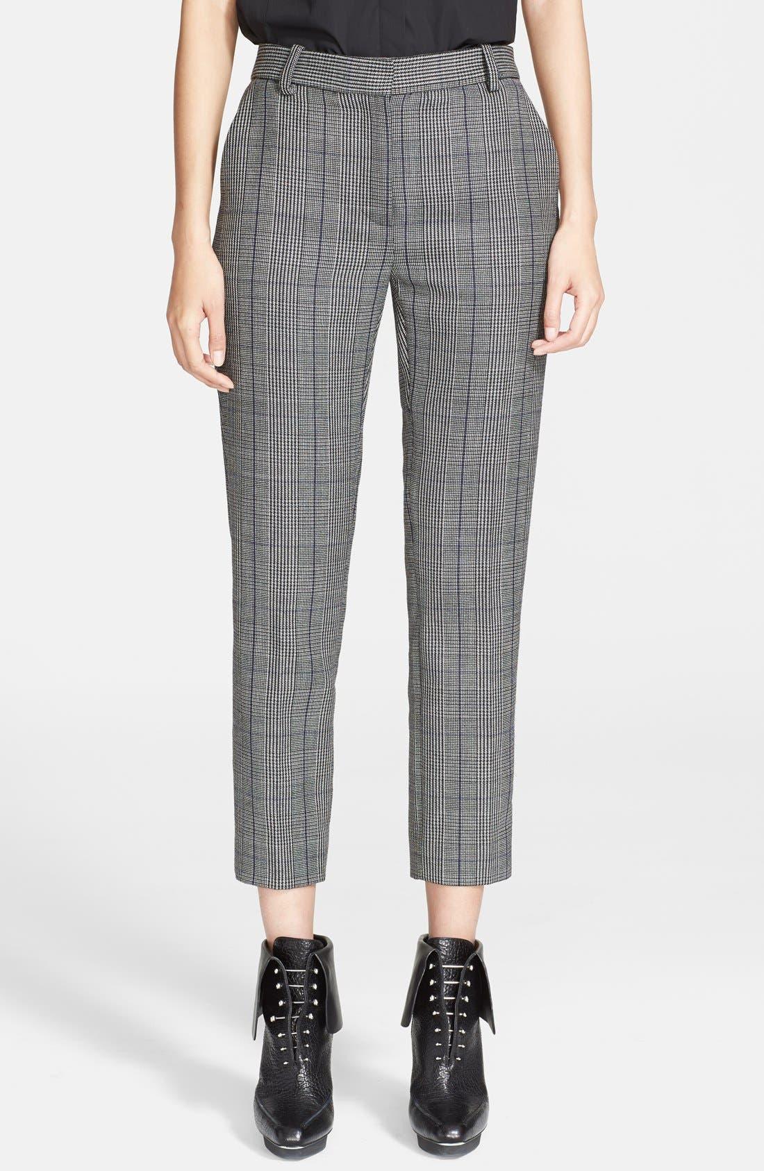 3.1 PHILLIP LIM Glen Plaid Pencil Pants, Main, color, 020