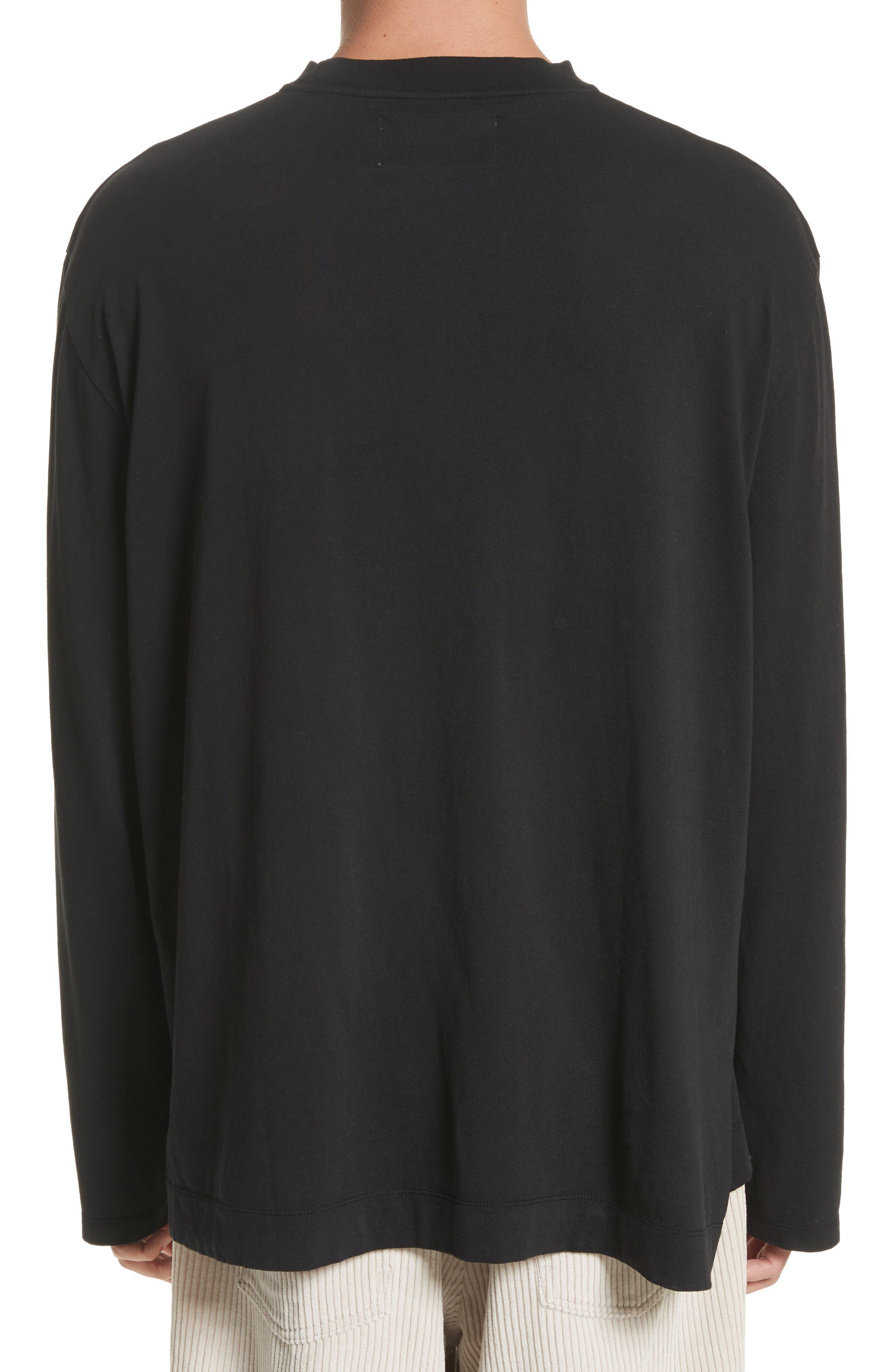 Long Sleeve Pocket T-Shirt,                             Alternate thumbnail 2, color,                             BLACK