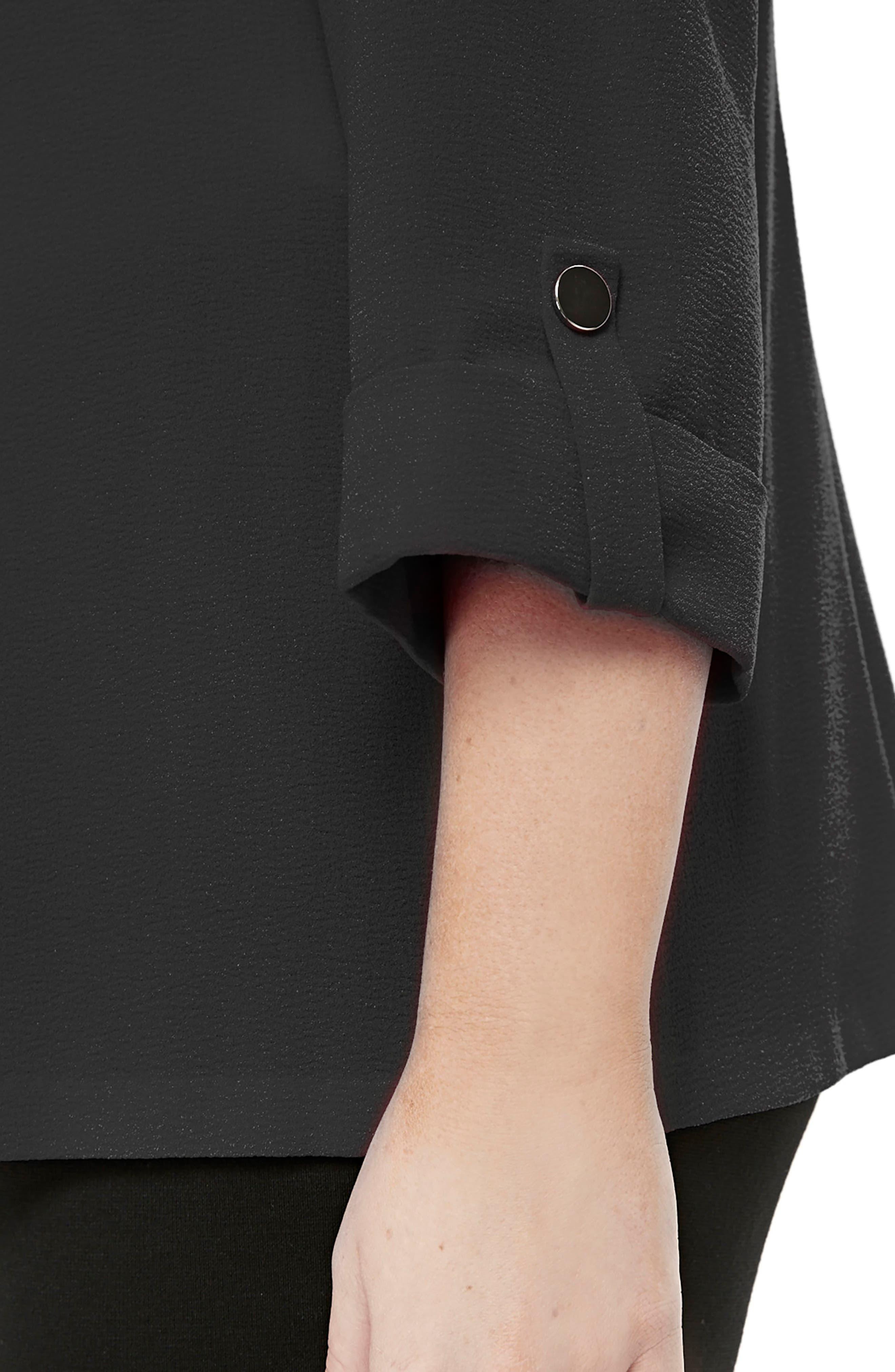 Three-Quarter Sleeve Open Front Jacket,                             Alternate thumbnail 2, color,                             001