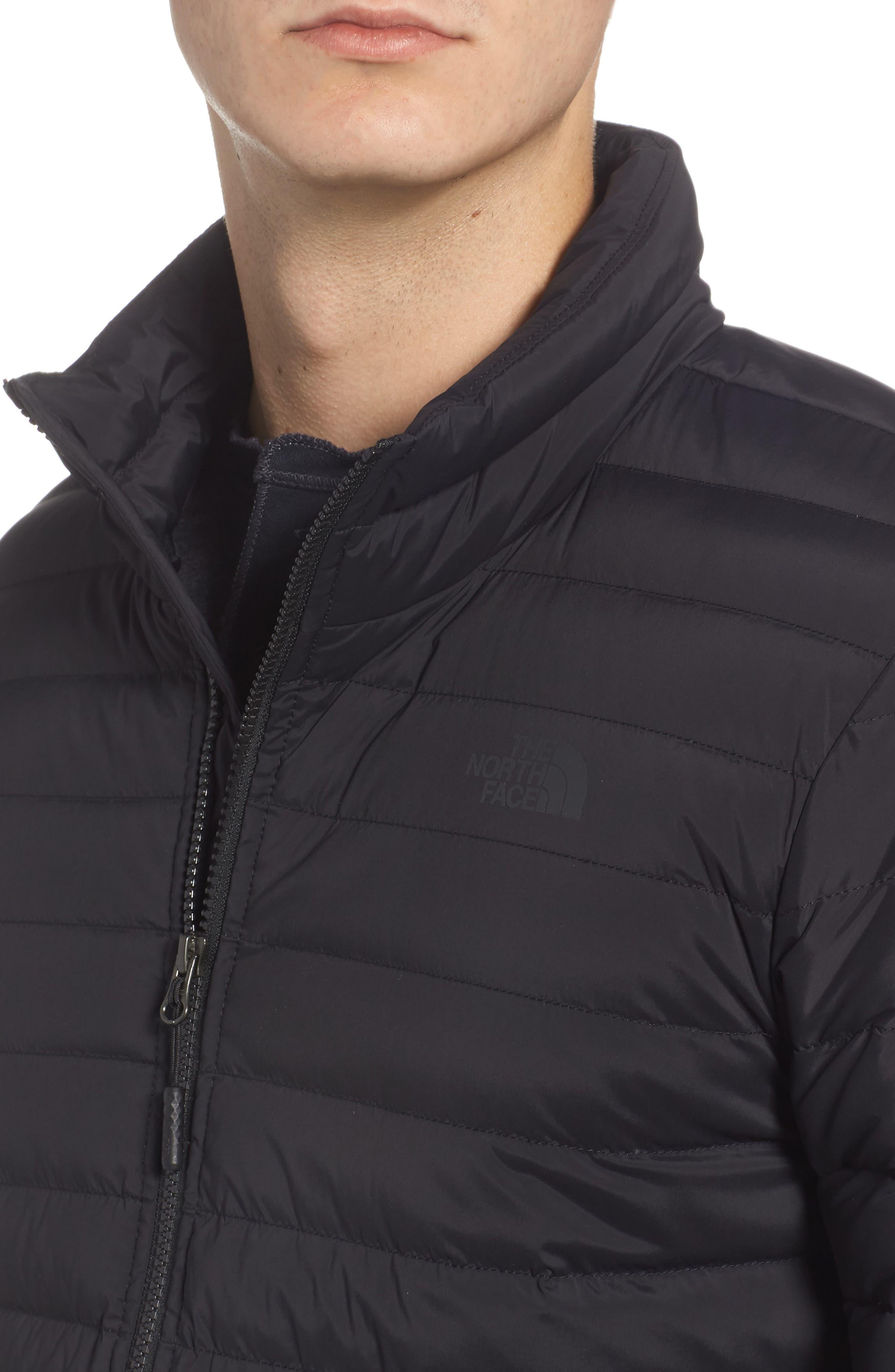 Packable Stretch Down Jacket,                             Alternate thumbnail 4, color,                             TNF BLACK/ TNF BLACK