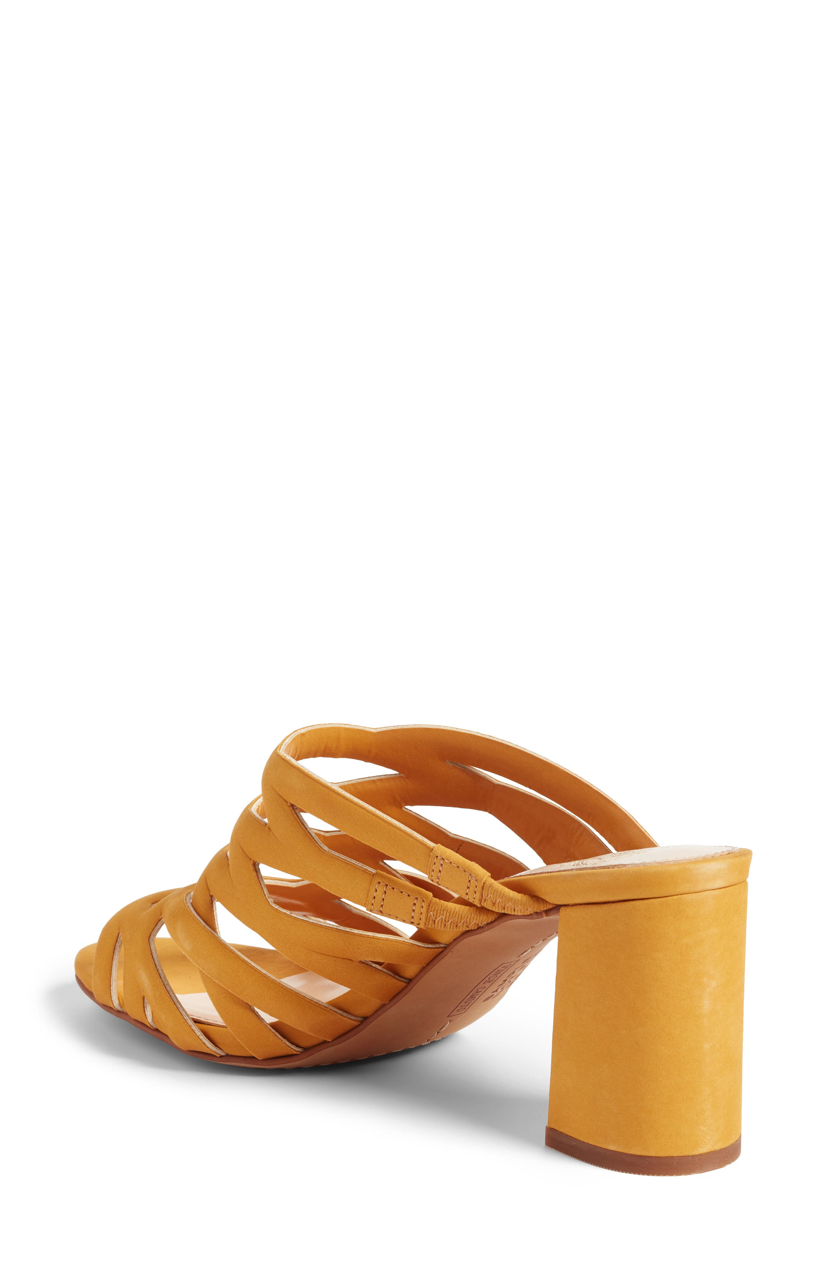 Raveana Cage Mule,                             Alternate thumbnail 2, color,                             MUSTARD YELLOW LEATHER