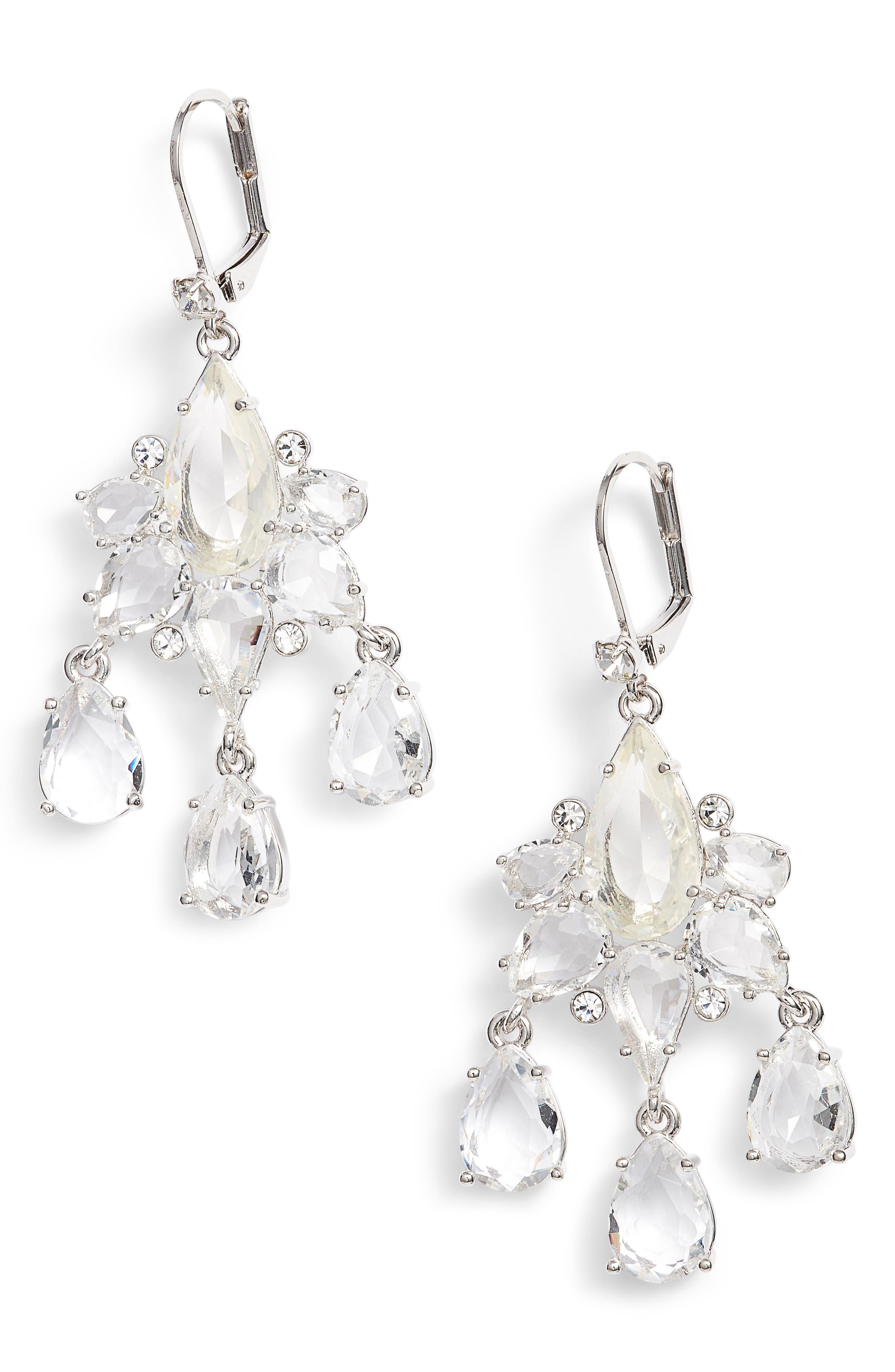 glitzy gems chandelier drop earrings,                             Main thumbnail 1, color,                             040