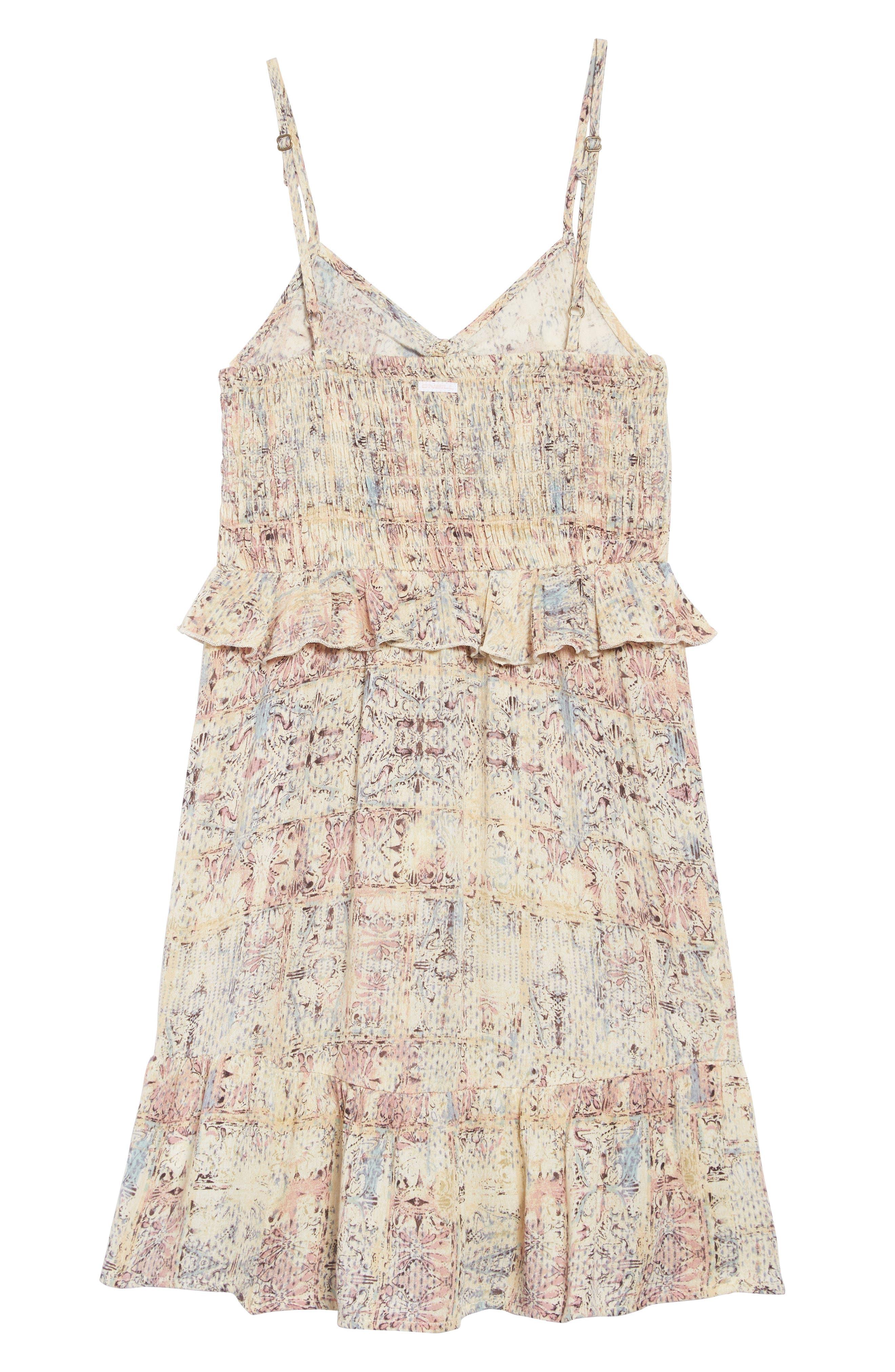 Lithia Peplum High/Low Dress,                             Alternate thumbnail 4, color,                             MULTI COLORED
