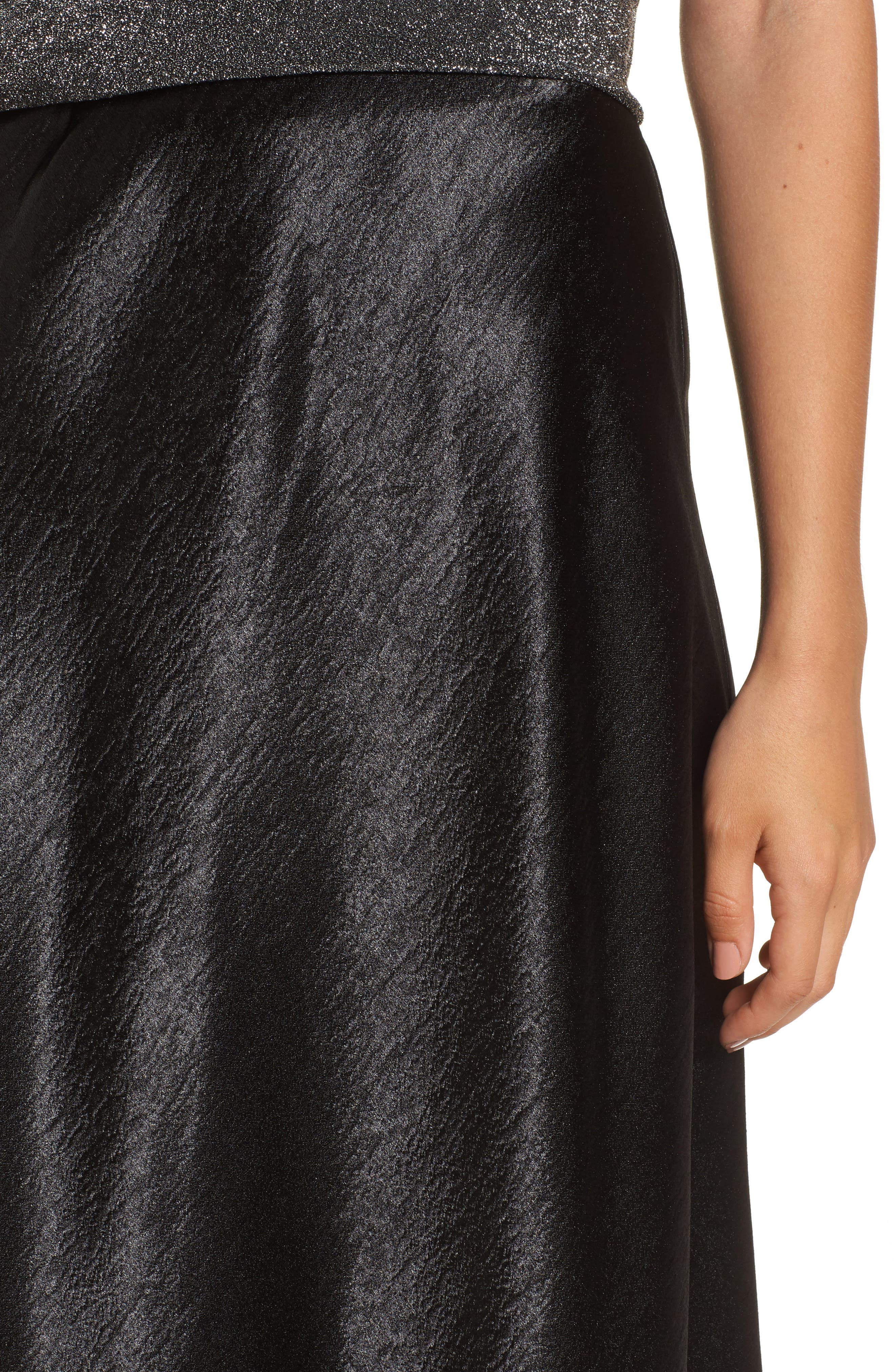 Satin Midi Skirt,                             Alternate thumbnail 7, color,