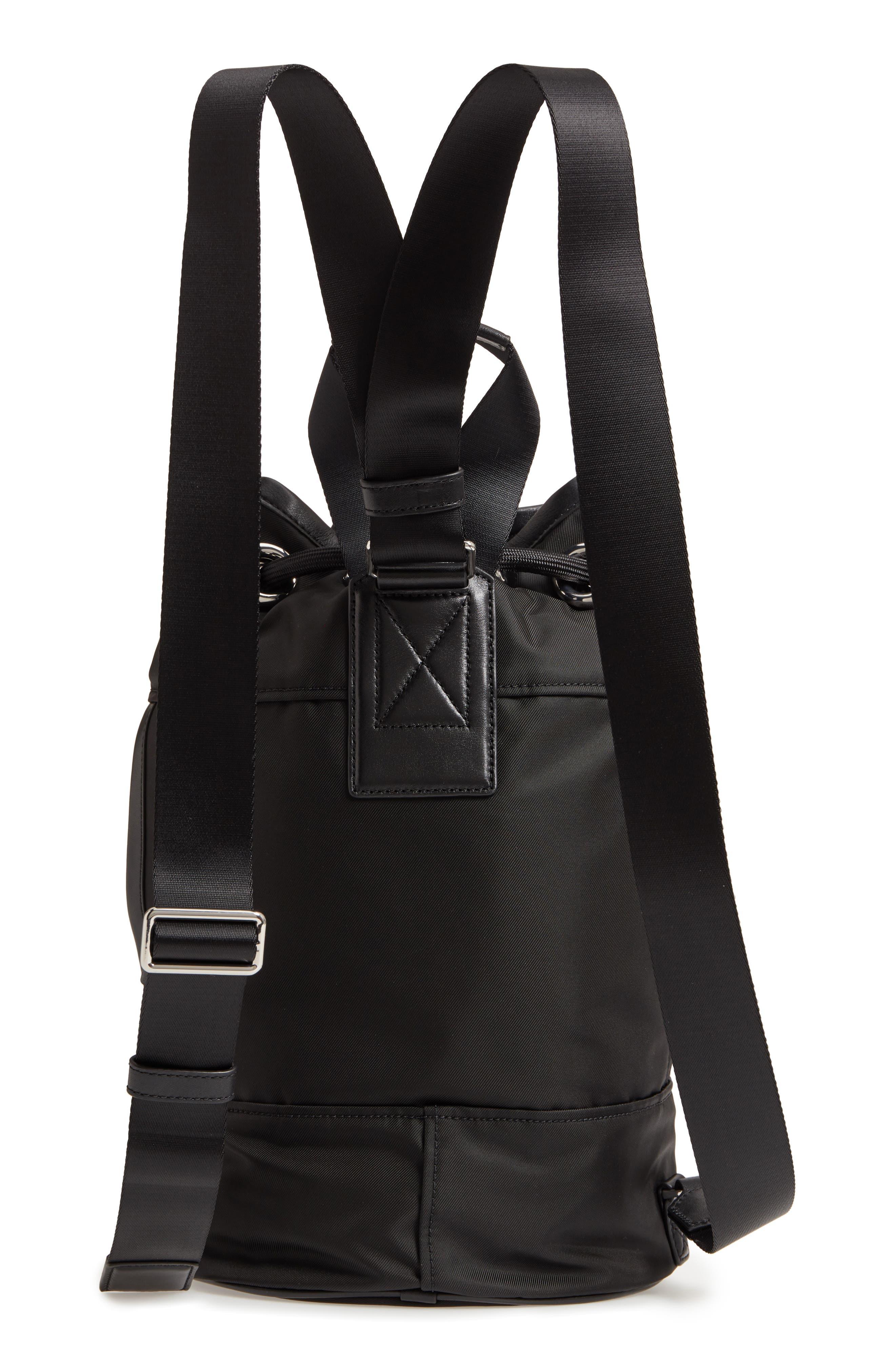 Nylon Sport Sling Bag,                             Alternate thumbnail 3, color,                             BLACK