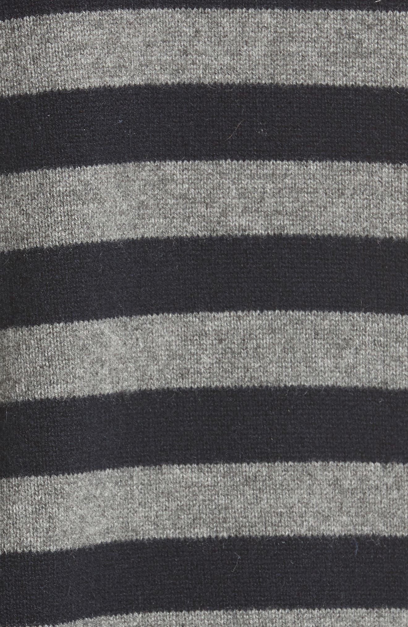 Button Shoulder Stripe Cashmere Sweater,                             Alternate thumbnail 5, color,                             066
