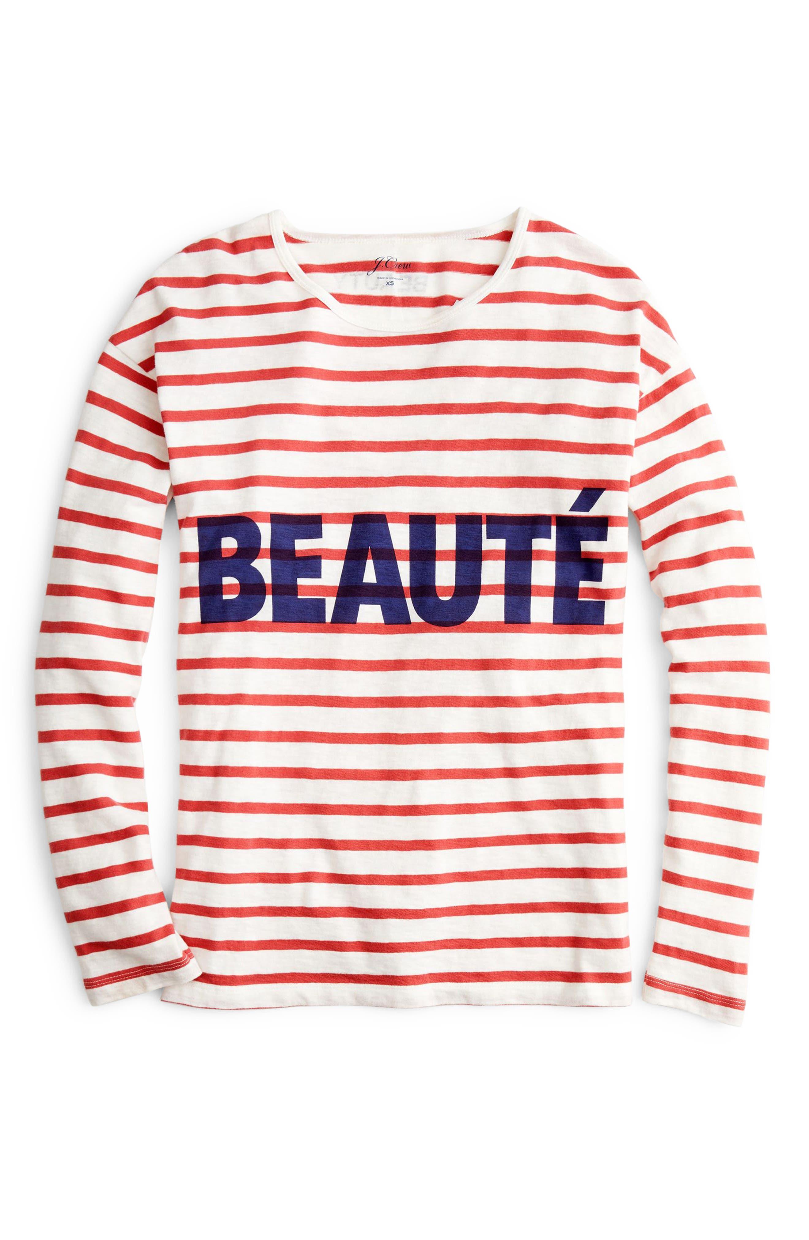 Beauté T-Shirt,                             Alternate thumbnail 5, color,                             600