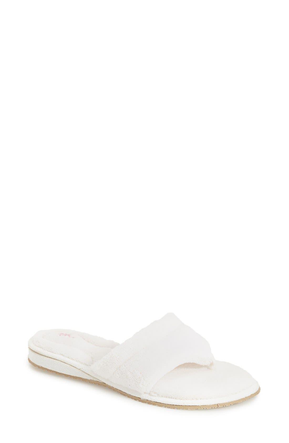 'Splash' Slipper,                         Main,                         color, WHITE