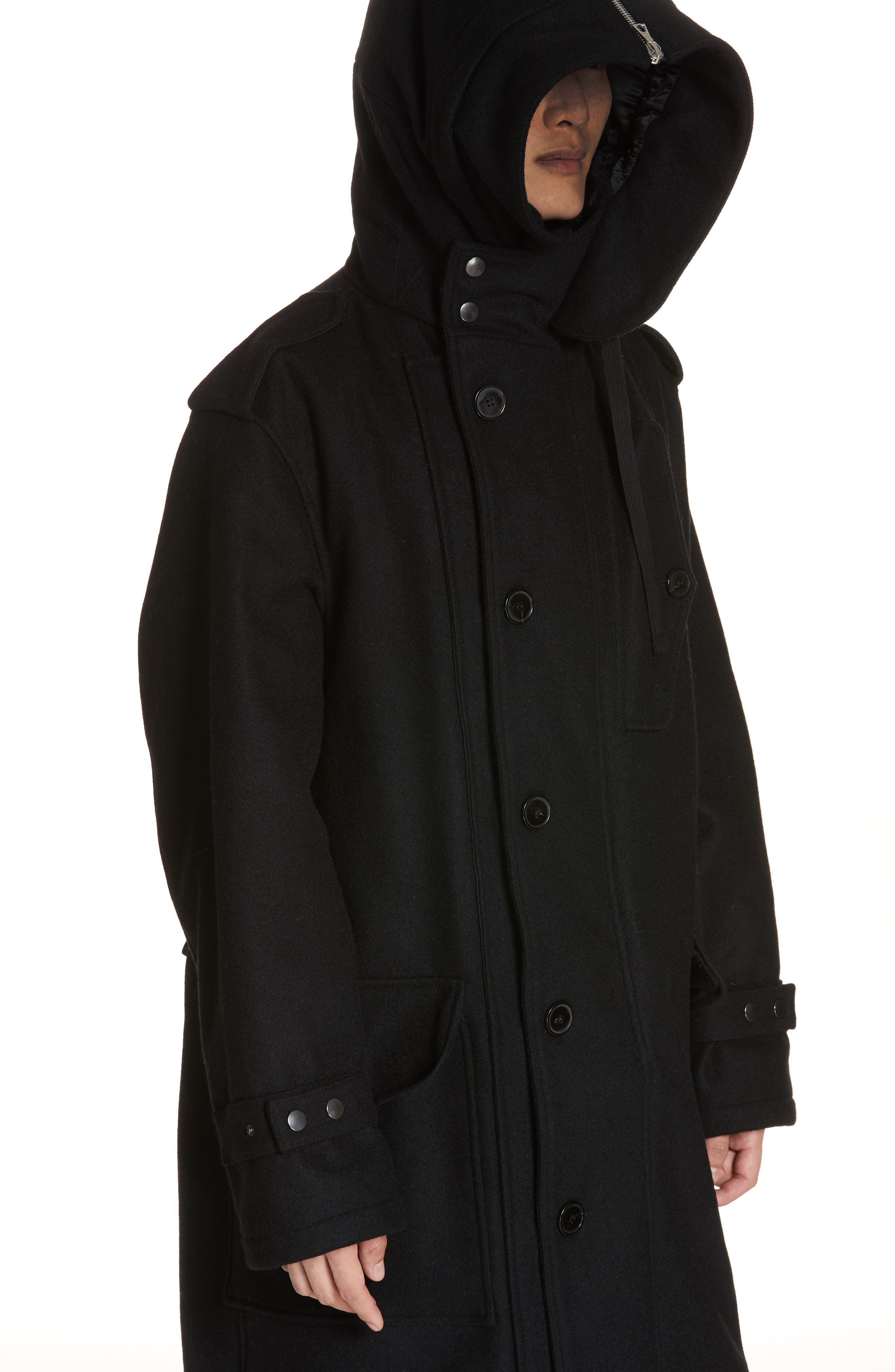 Verreli Hooded Parka with Faux Fur Trim,                             Alternate thumbnail 2, color,                             BLACK 900