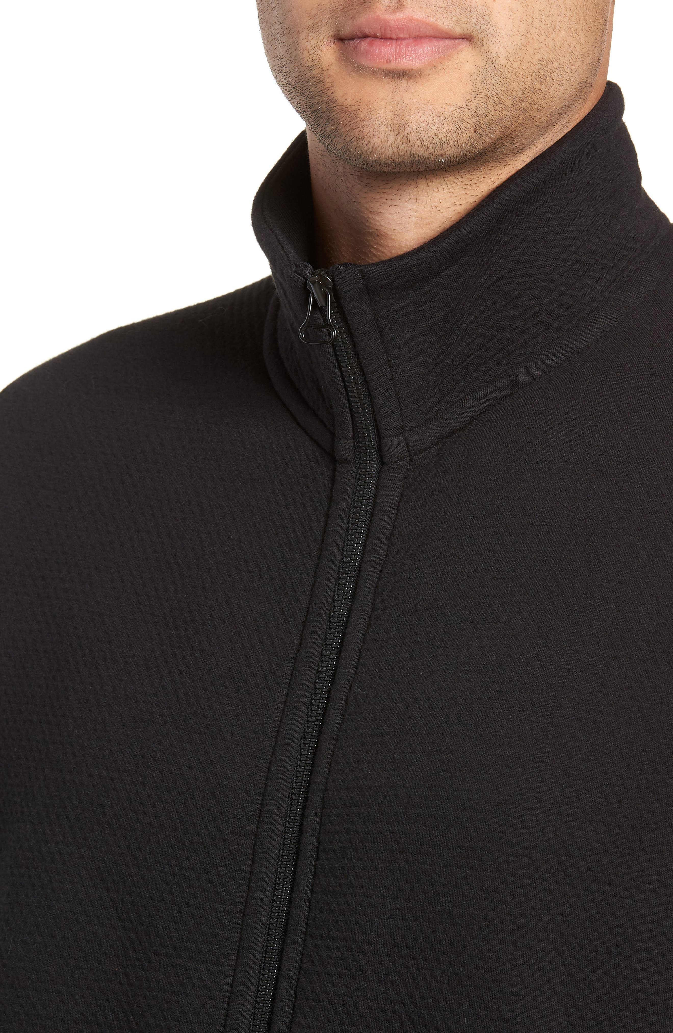 Cabin Fleece Jacket,                             Alternate thumbnail 4, color,                             BLACK