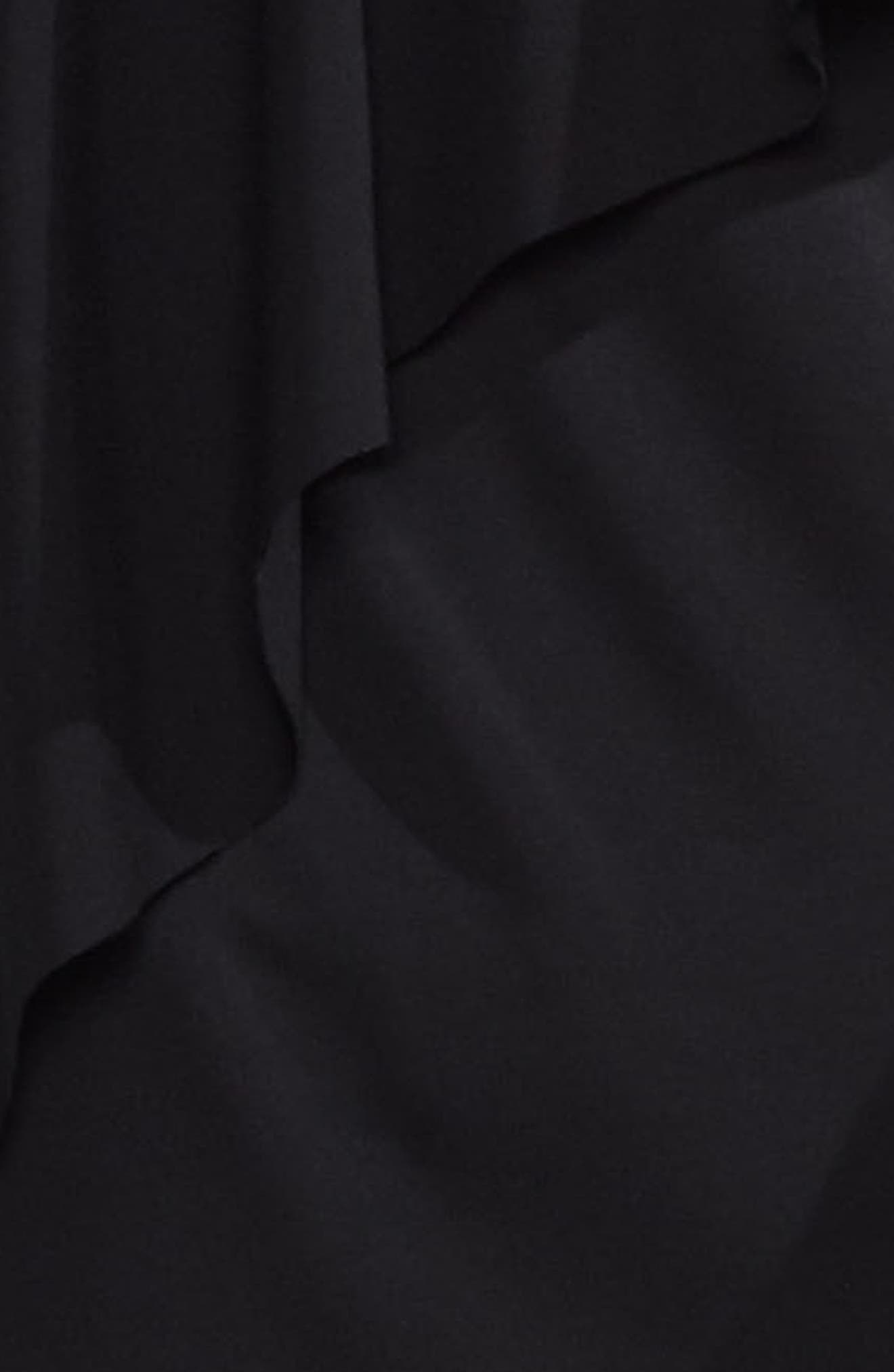 Asymmetrical Ruffle V-Neck Top,                             Alternate thumbnail 3, color,                             006