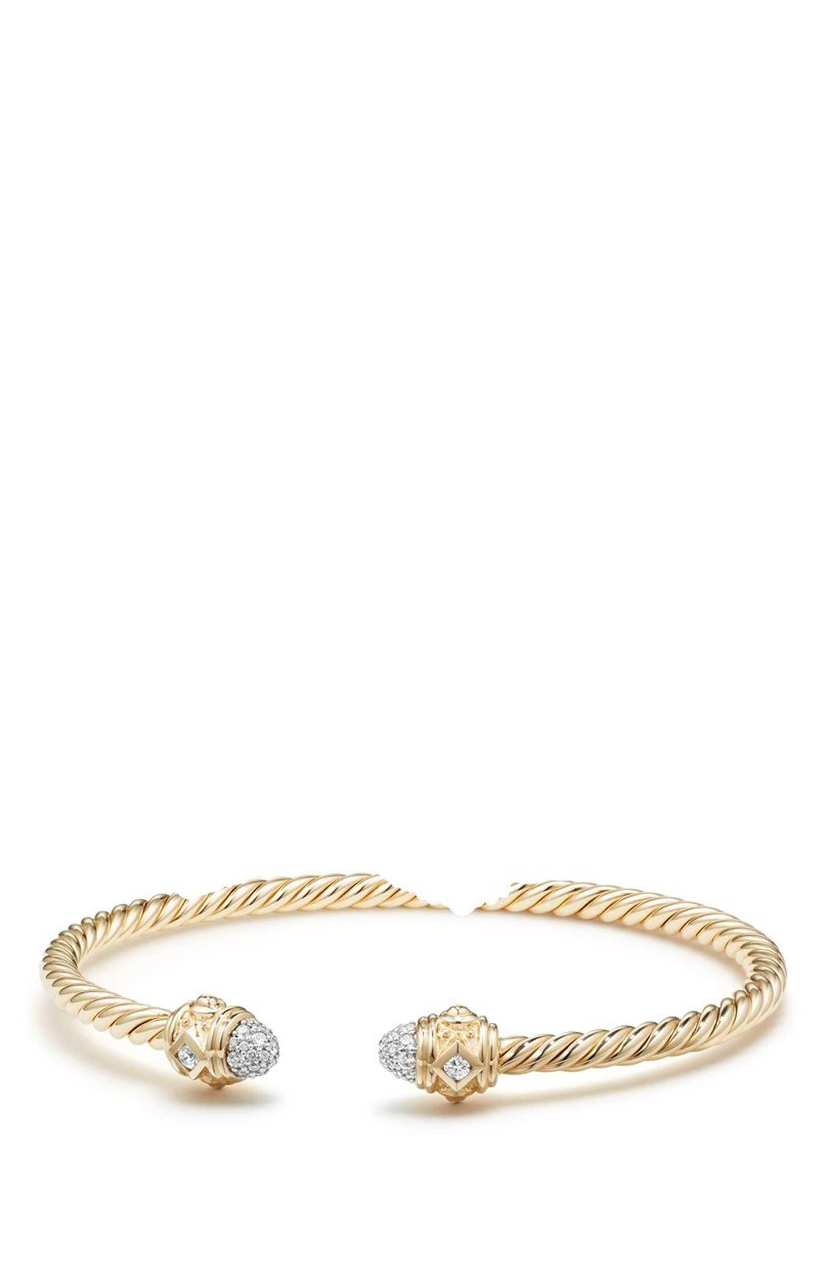 Renaissance 18k Gold Bracelet with Diamonds,                             Main thumbnail 1, color,                             GOLD/ DIAMOND