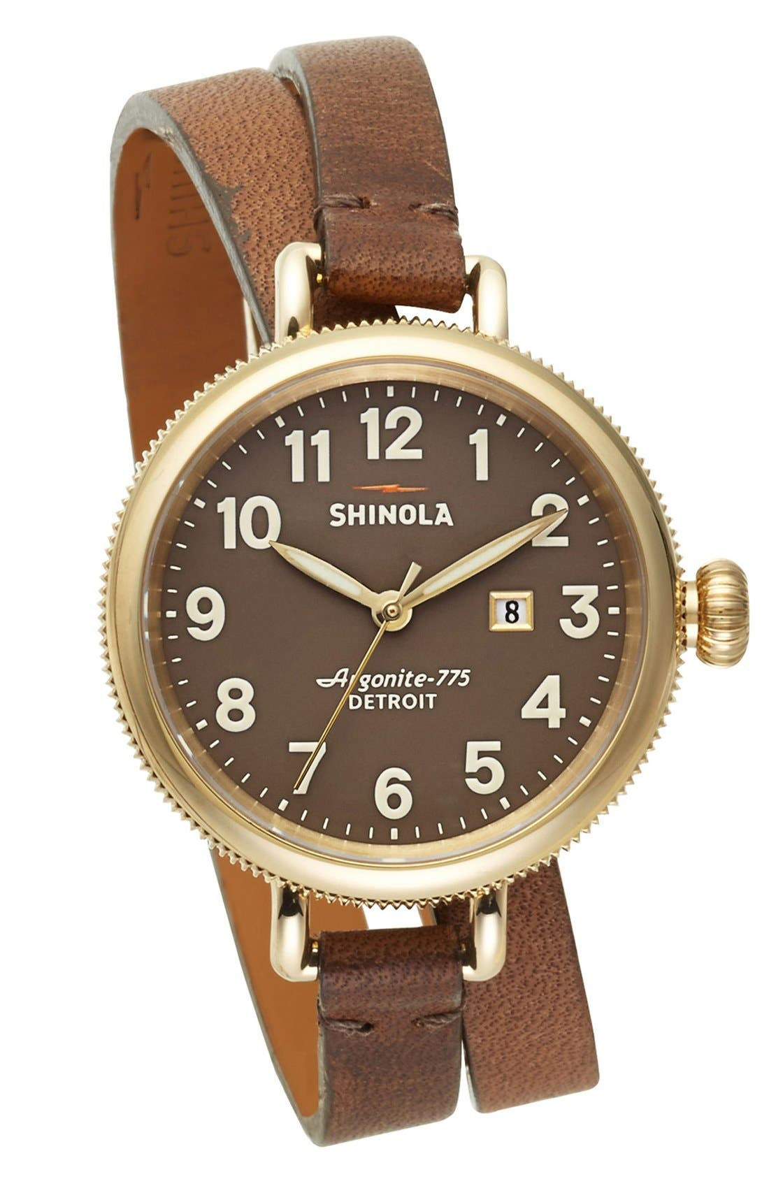 'The Birdy' Double Wrap Leather Strap Watch, 34mm,                             Alternate thumbnail 24, color,