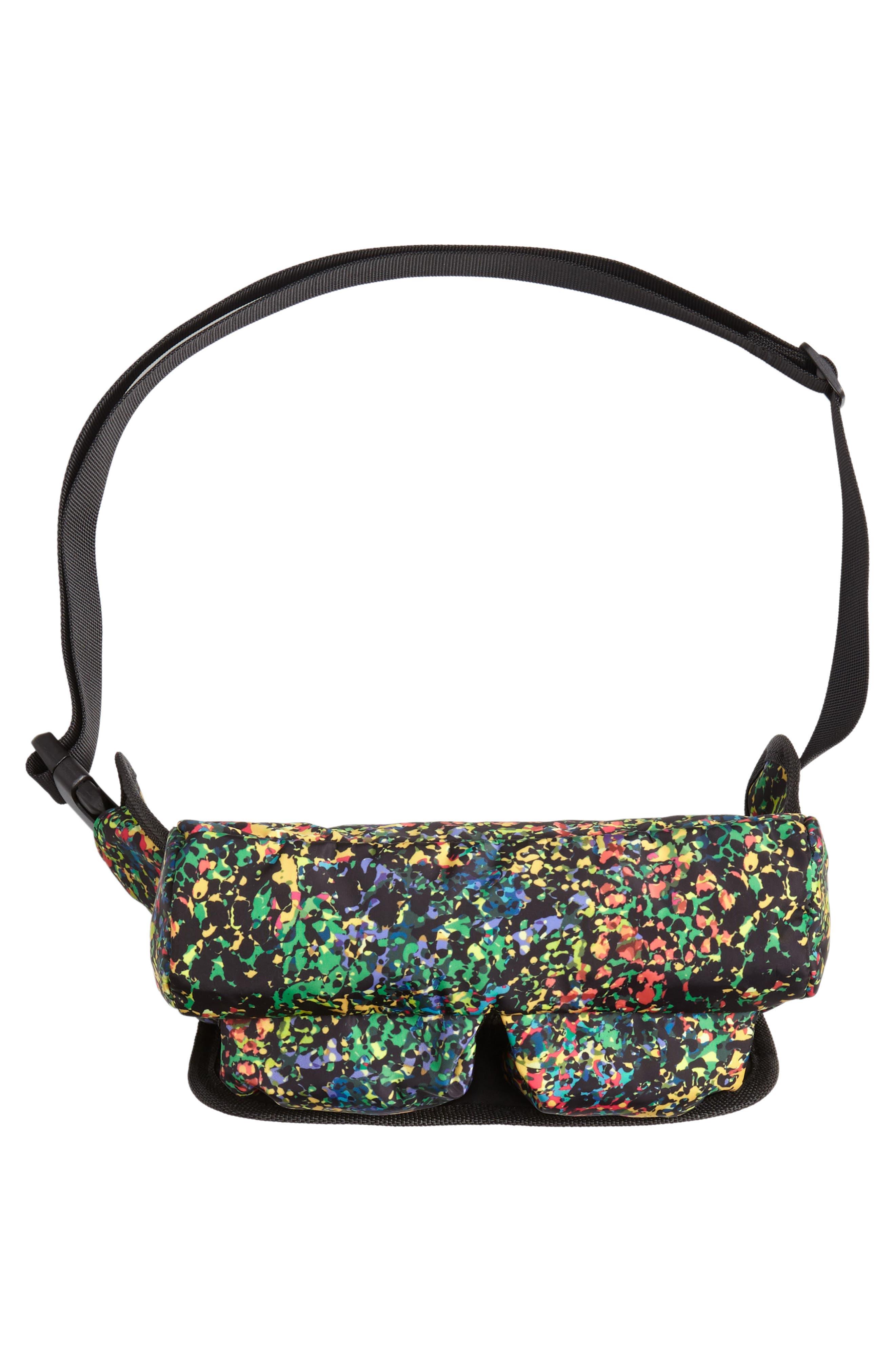 Sabre Crossbody Belt Bag,                             Alternate thumbnail 6, color,                             BLACK MULTI