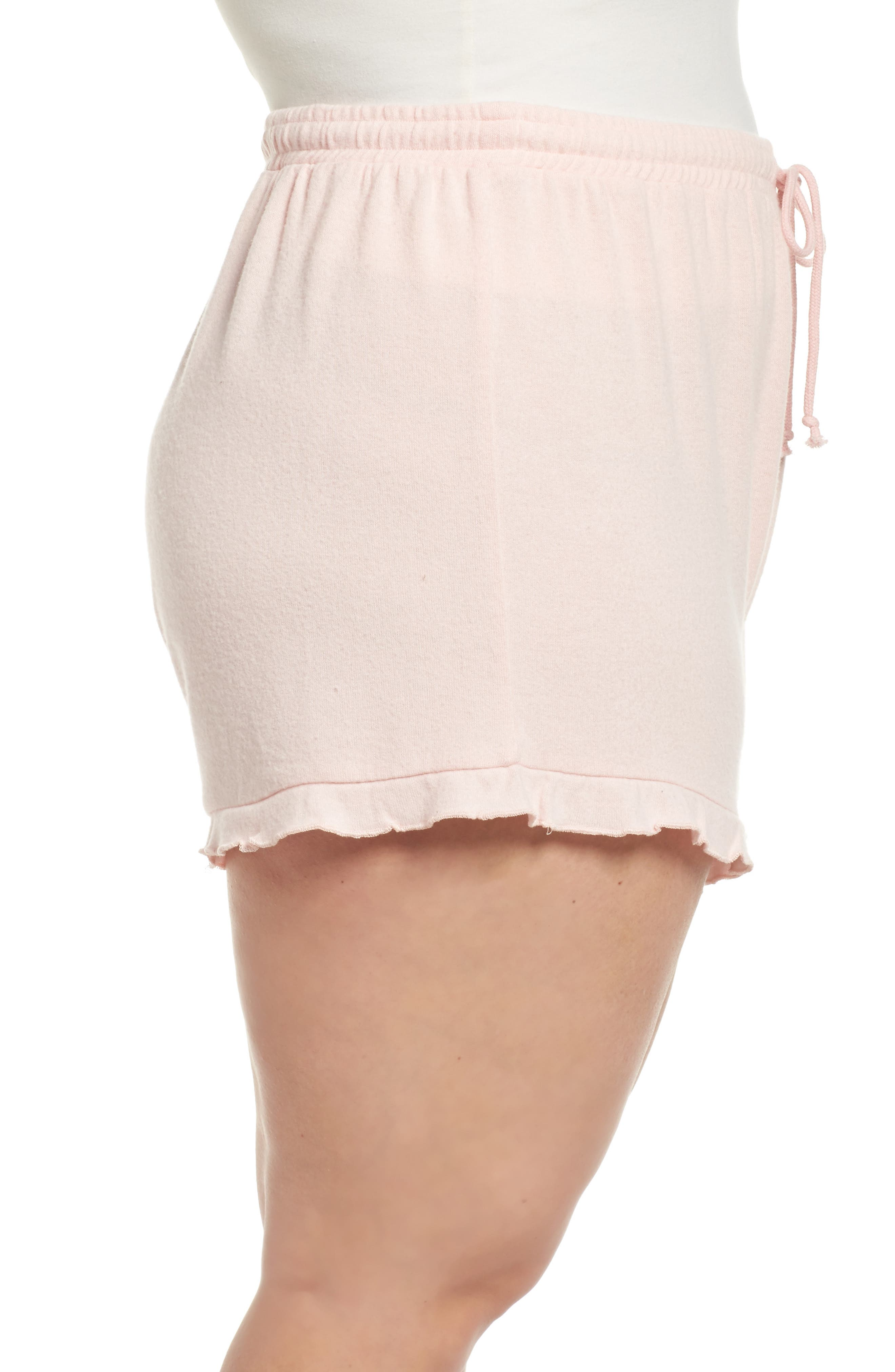 Ruffle Lounge Shorts,                             Alternate thumbnail 3, color,
