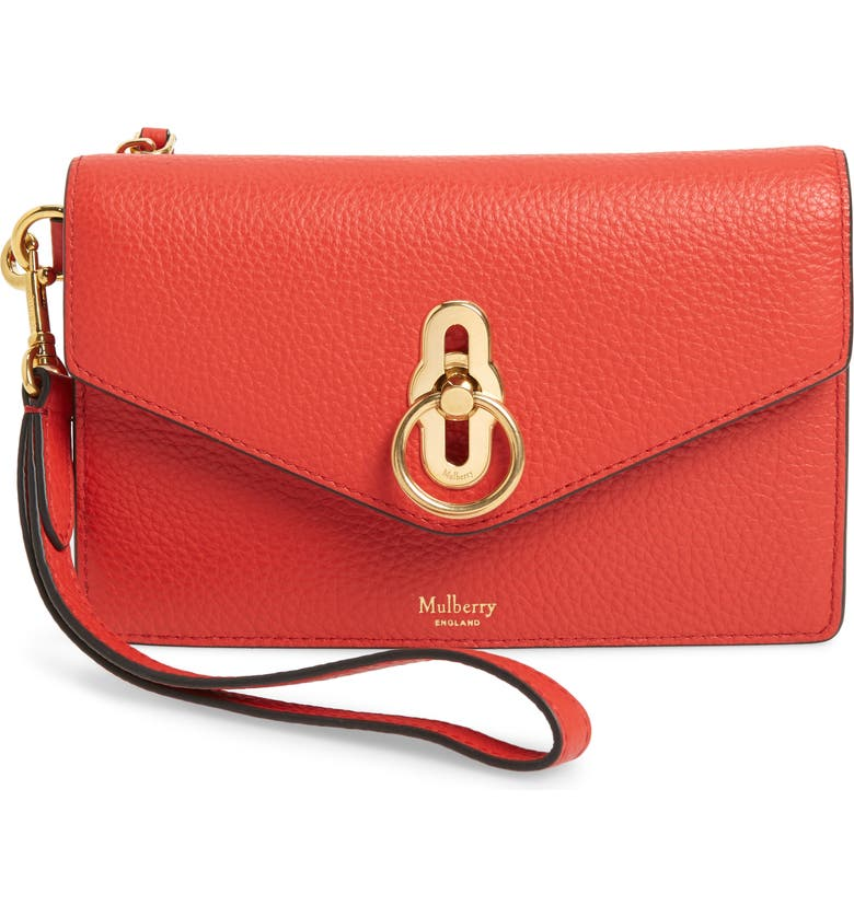 Mulberry Amberley Iphone Leather Clutch In Hibiscus Red   ModeSens 89150881aa