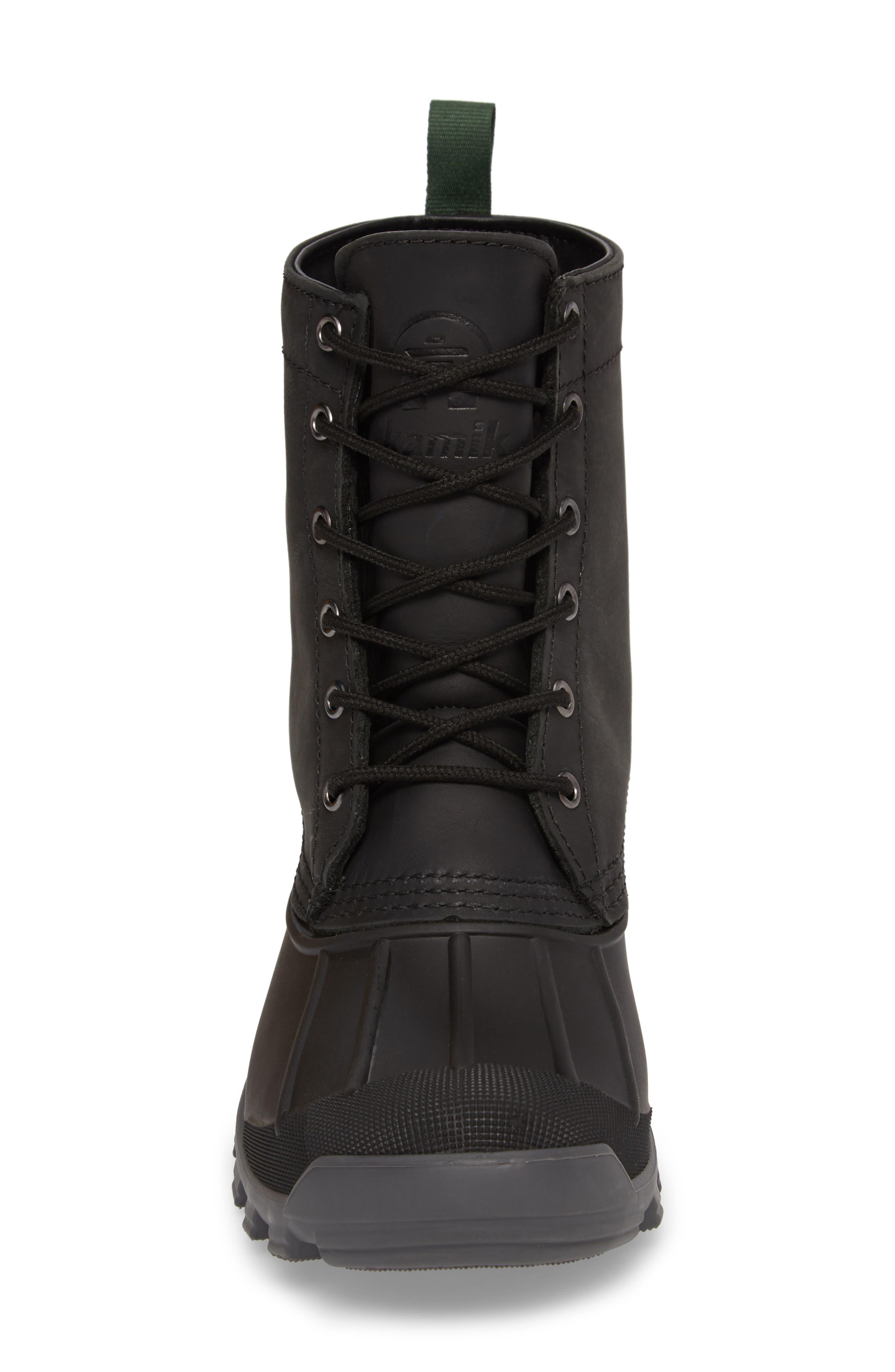 Yukon 6 Waterproof Insulated Three-Season Boot,                             Alternate thumbnail 4, color,                             001