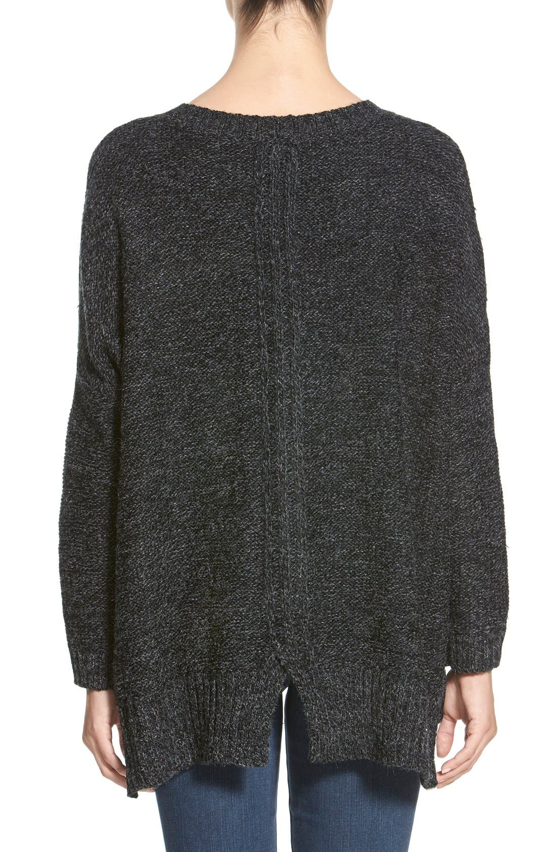 Cable Knit Sweater,                             Alternate thumbnail 2, color,                             020