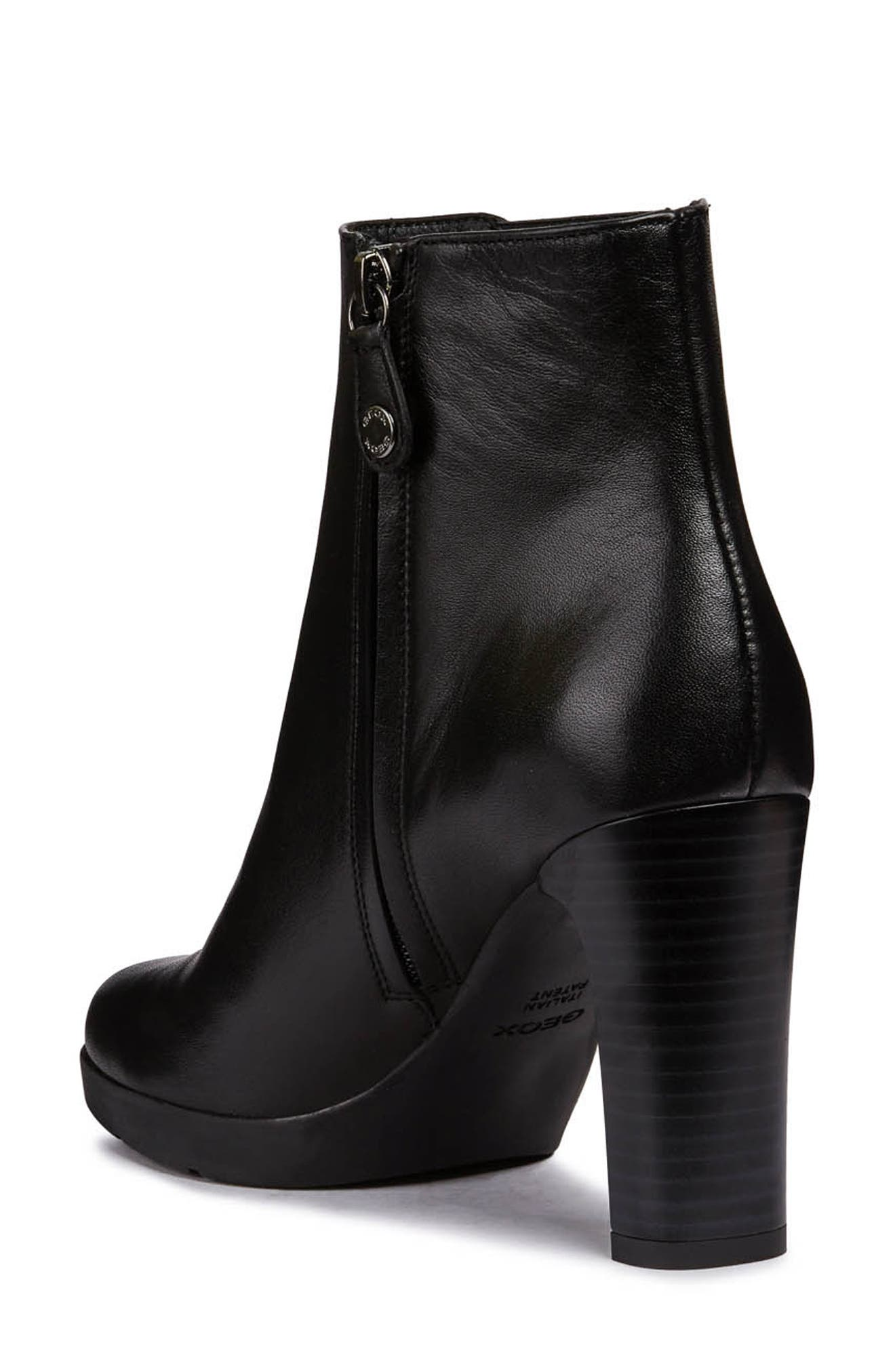 Annya Bootie,                             Alternate thumbnail 2, color,                             BLACK LEATHER