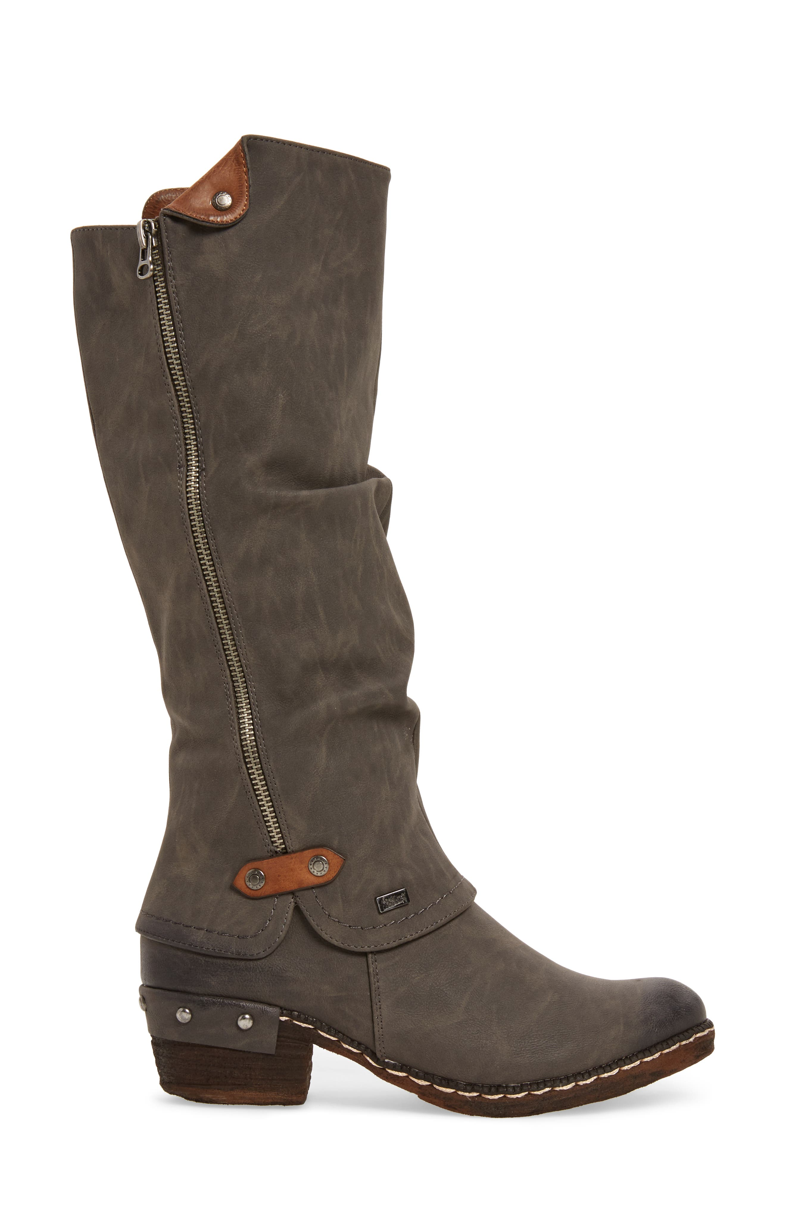 'Bernadette 55' Slightly Slouchy All Weather Boot,                             Alternate thumbnail 3, color,                             020