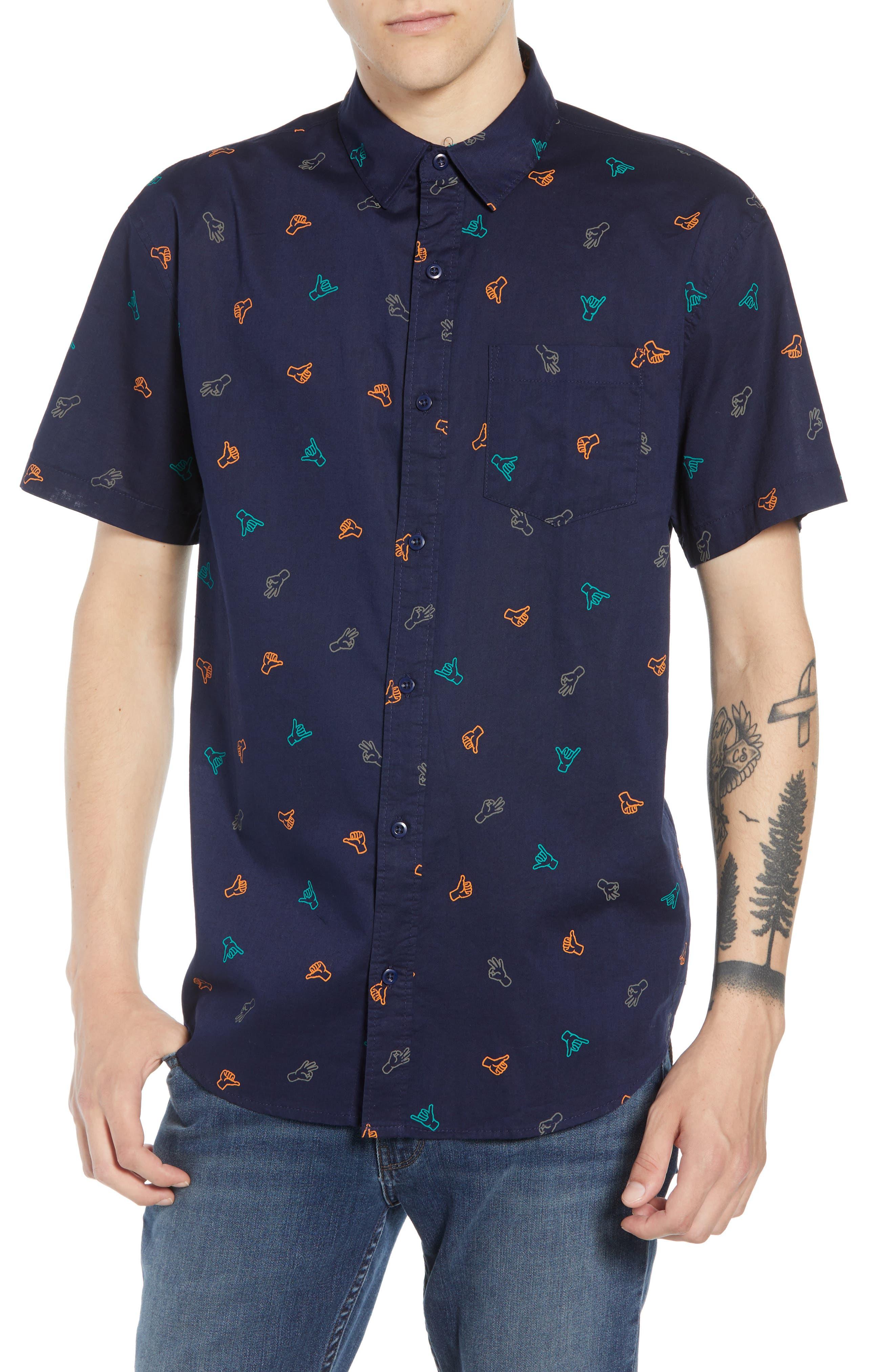 Print Camp Shirt,                         Main,                         color, 410