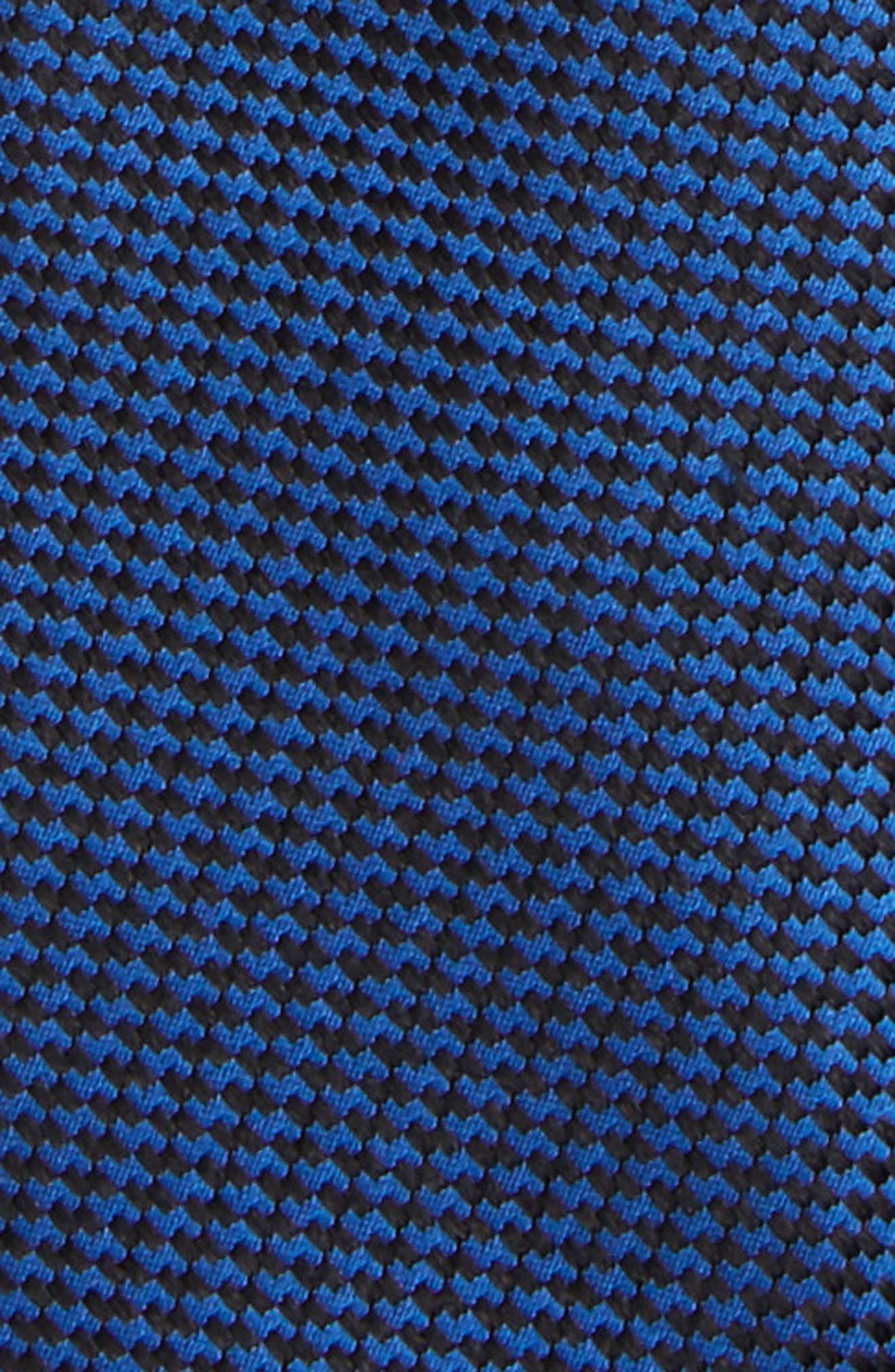 Textured Silk Zipper Tie,                             Alternate thumbnail 2, color,                             001