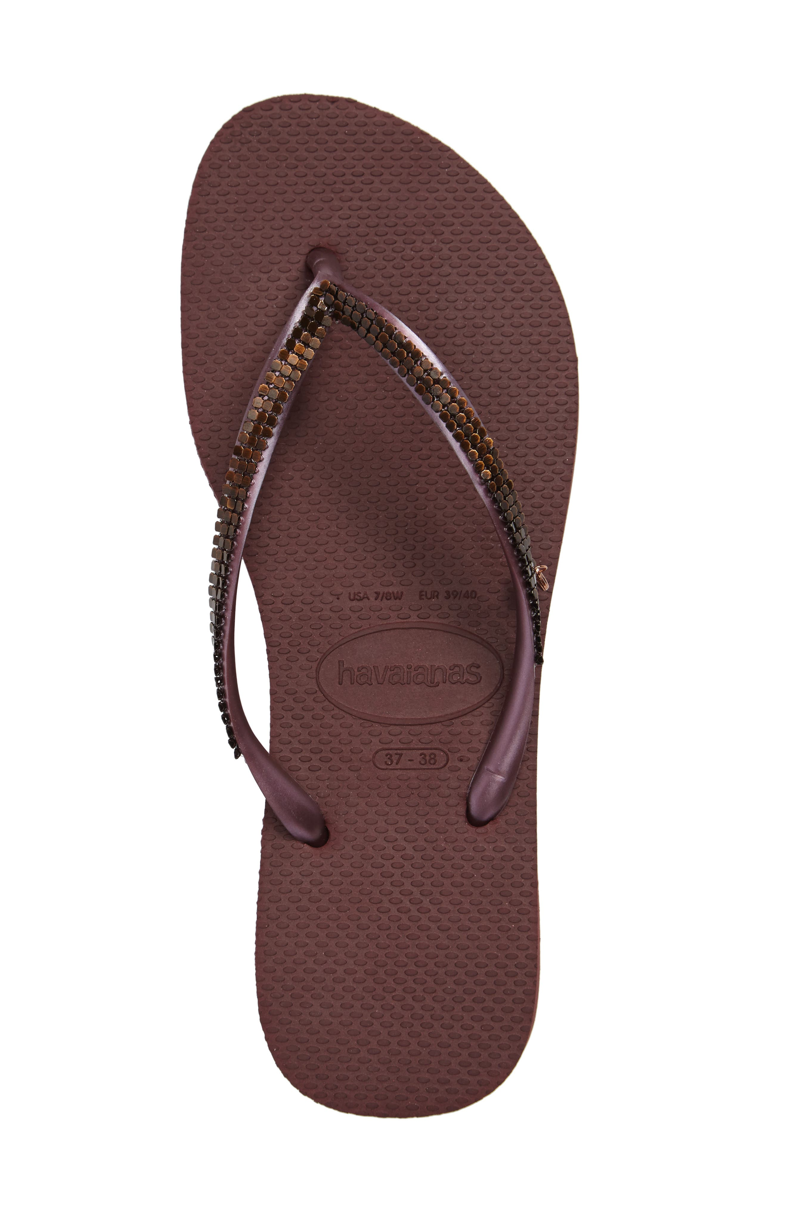 'Slim Metal Mesh' Flip Flop,                             Alternate thumbnail 3, color,                             500