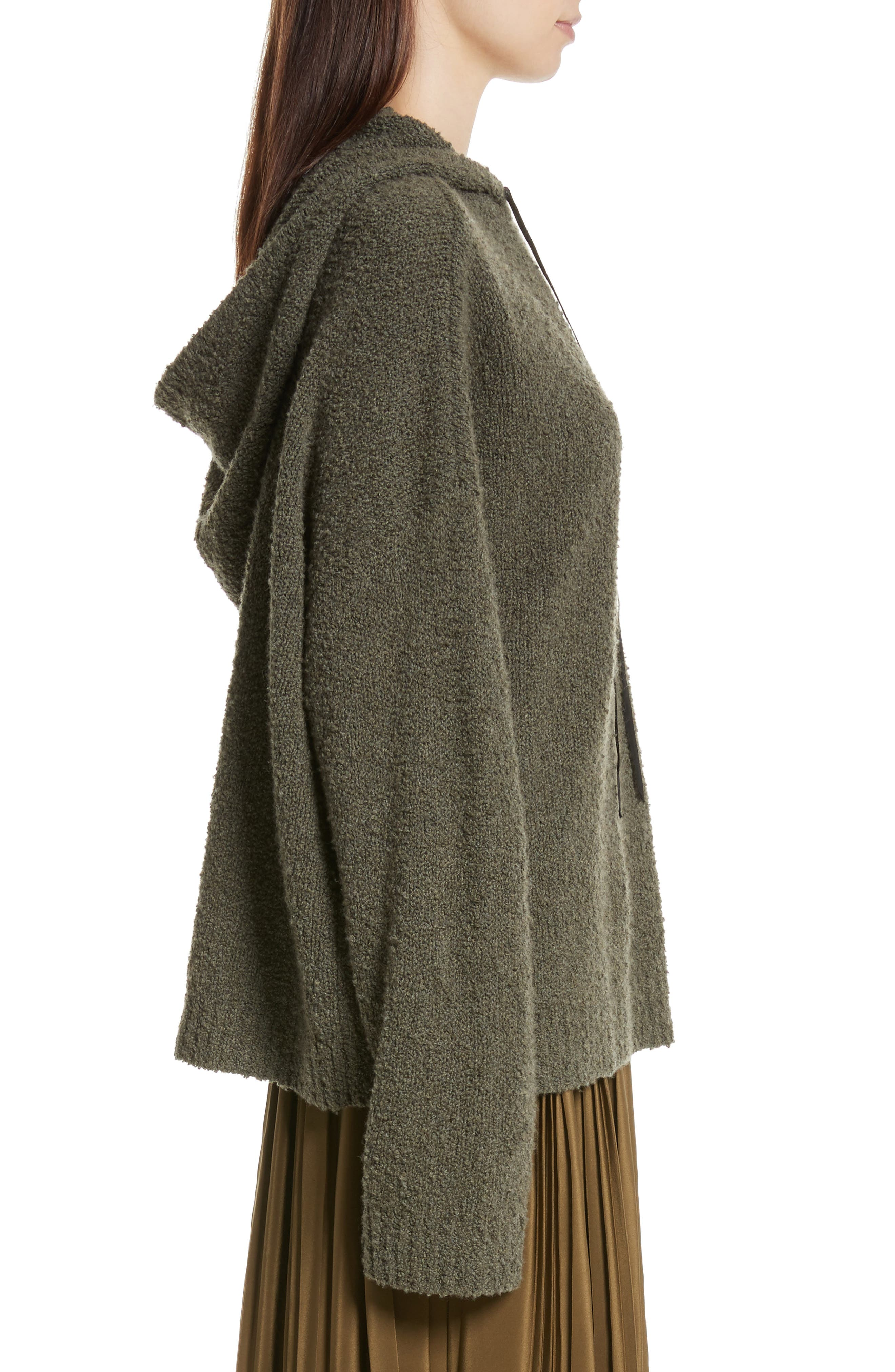 Merino Wool & Cashmere Reversible Hooded Sweater,                             Alternate thumbnail 4, color,                             300