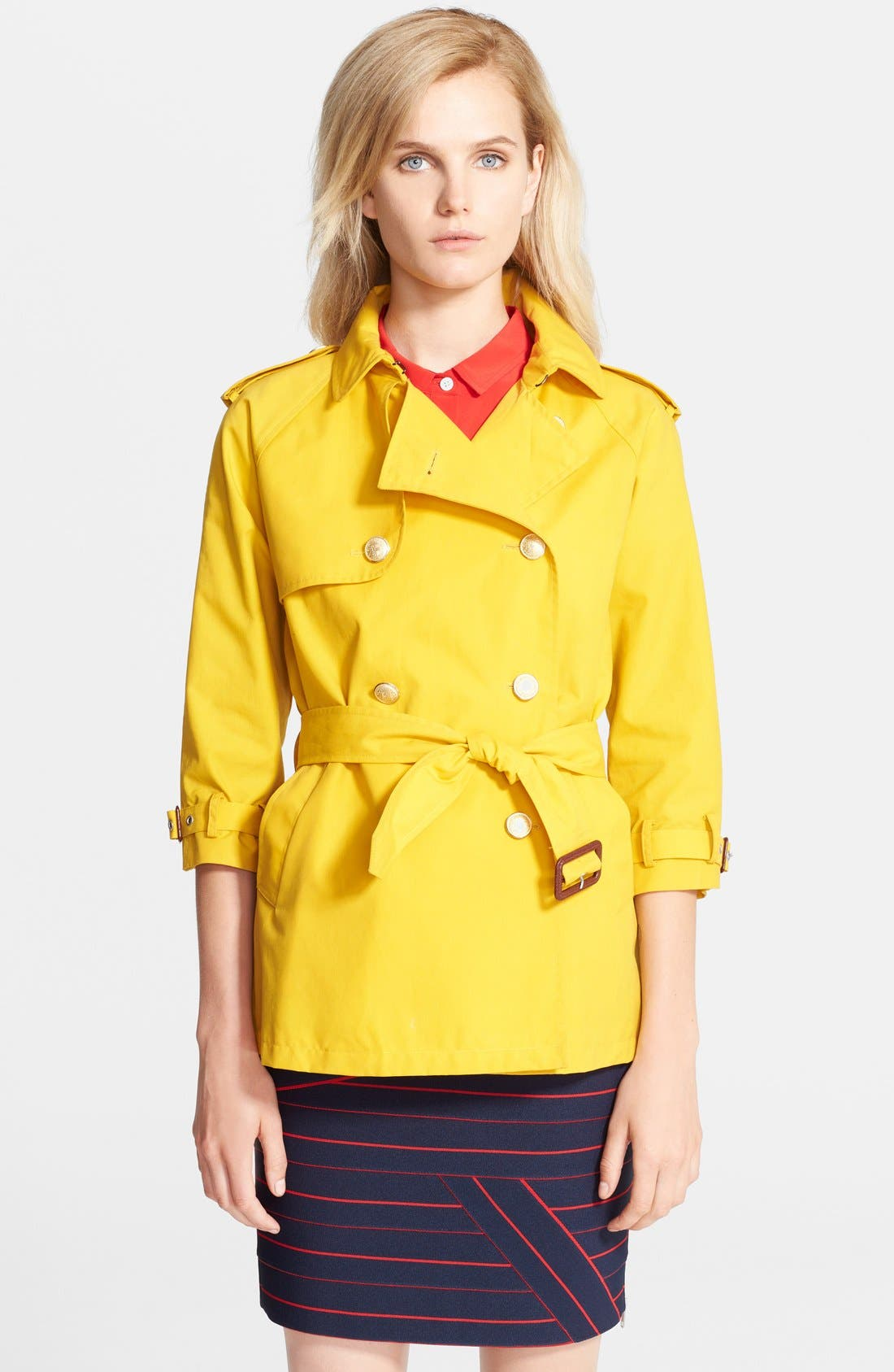 Belted A-Line Trench Coat, Main, color, 732