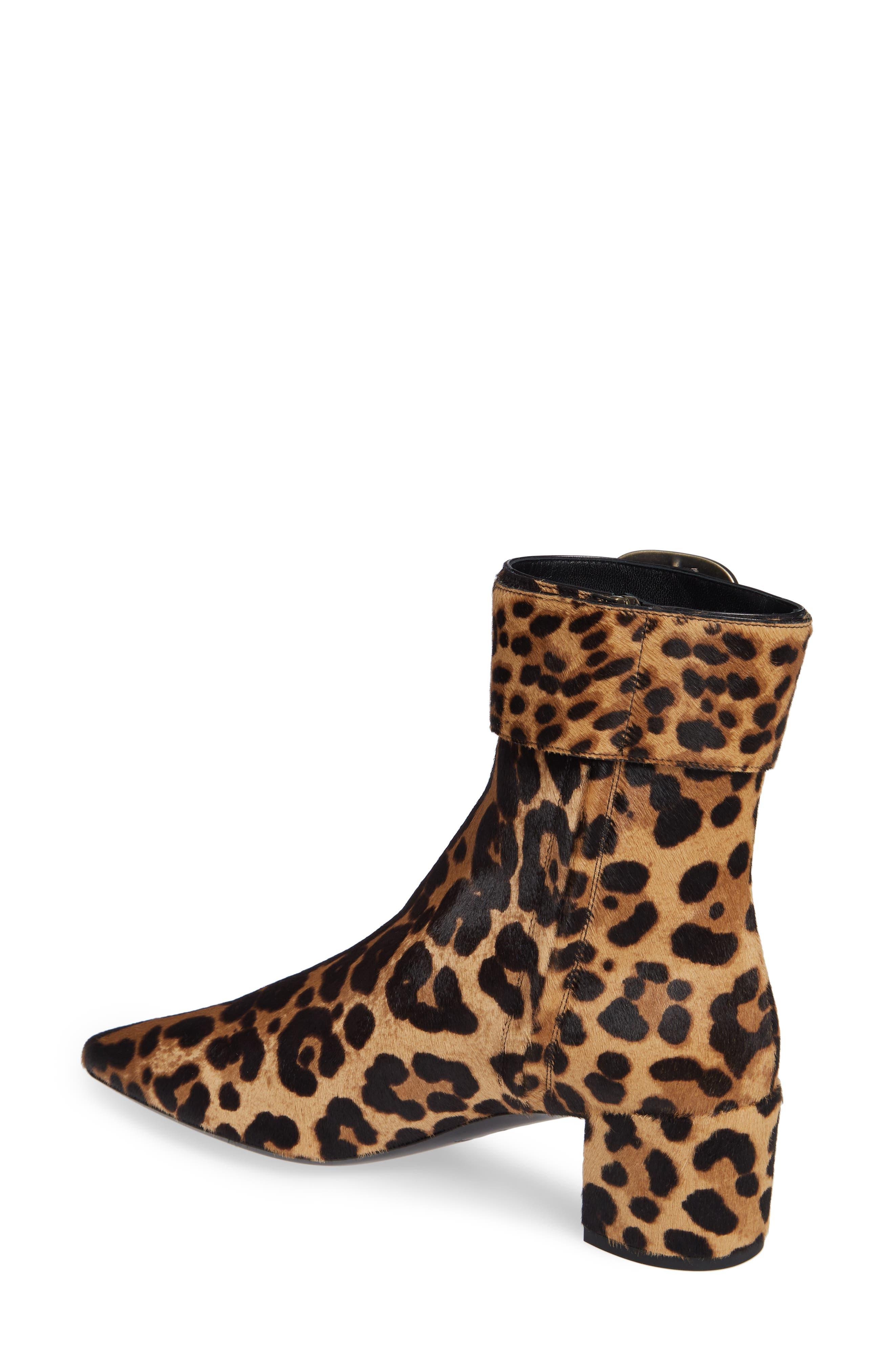 Leopard Genuine Calf Hair Buckle Bootie,                             Alternate thumbnail 2, color,                             LEOPARD CALF HAIR
