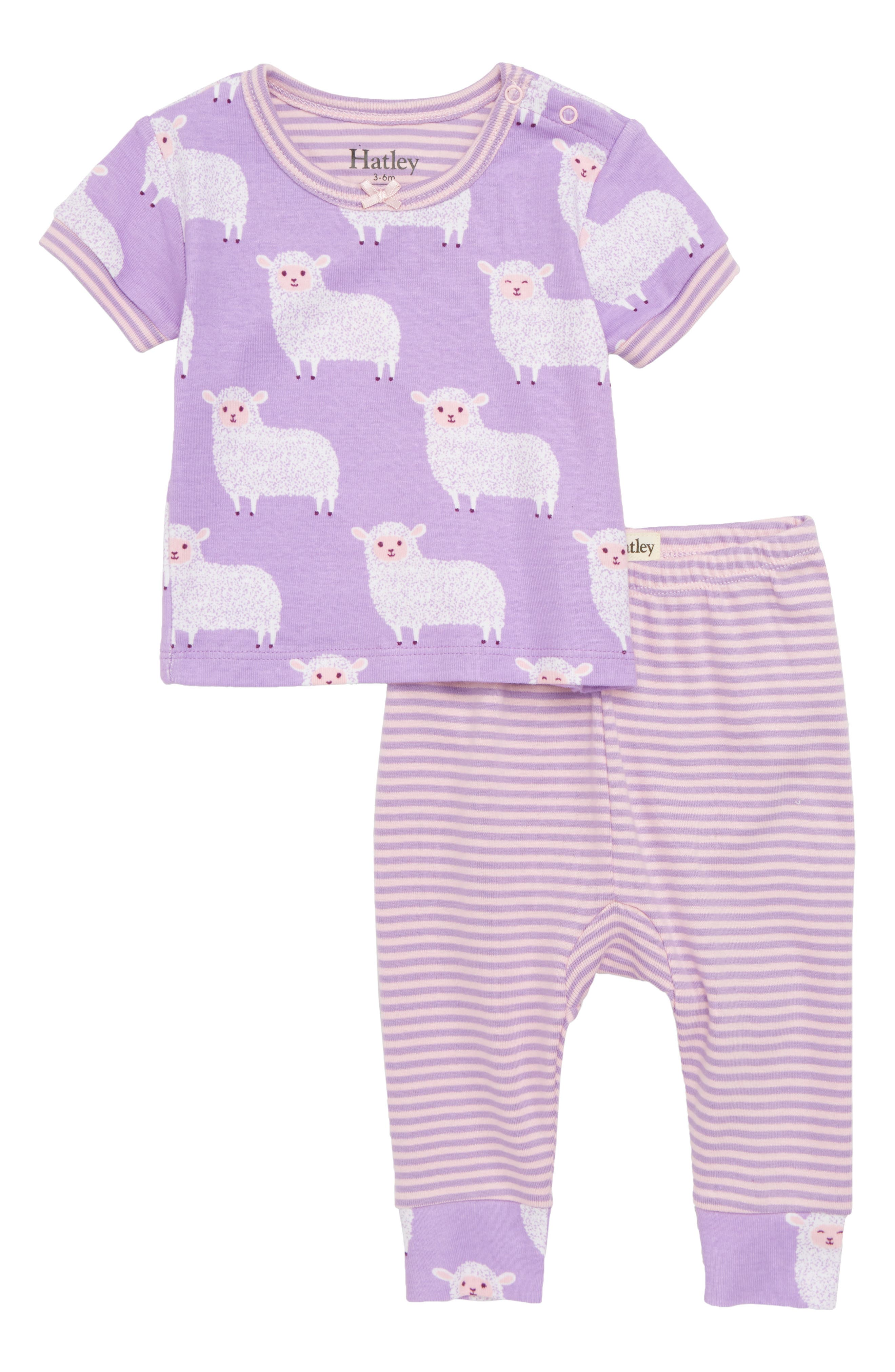 Counting Sheep Fitted Two-Piece Pajamas,                             Main thumbnail 1, color,