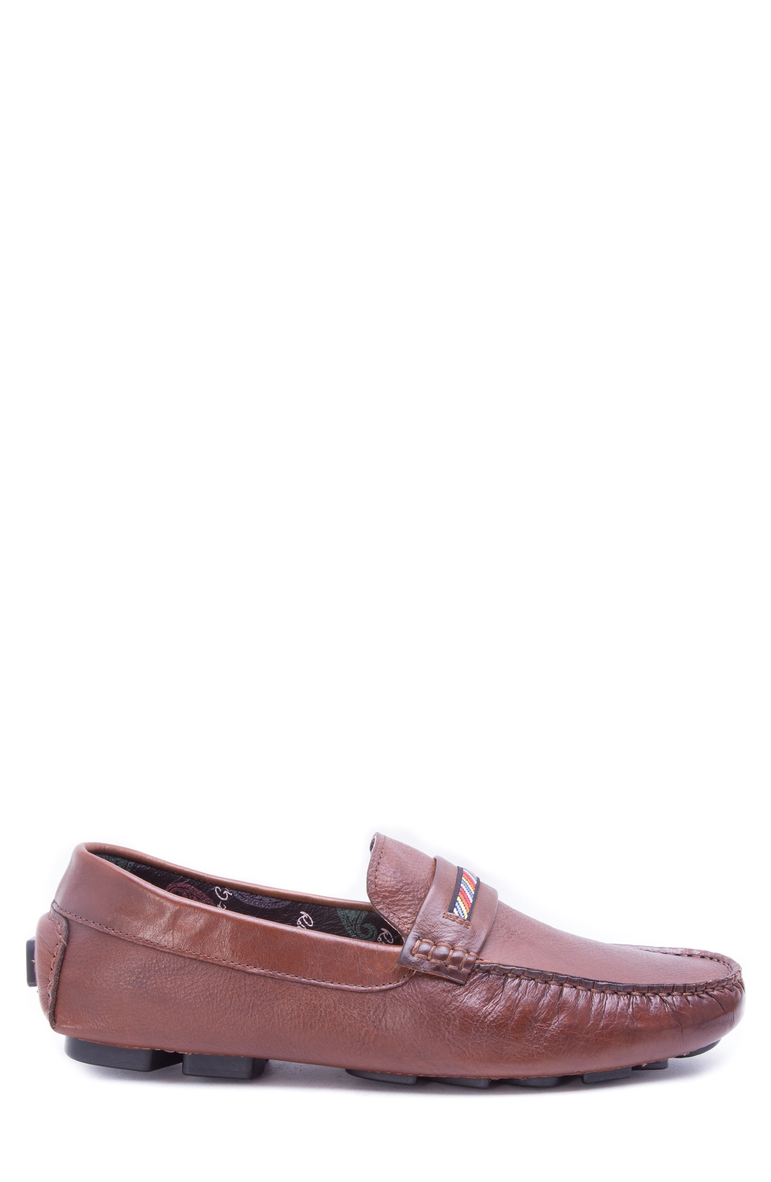 Hart Driving Moccasin,                             Alternate thumbnail 3, color,                             COGNAC LEATHER