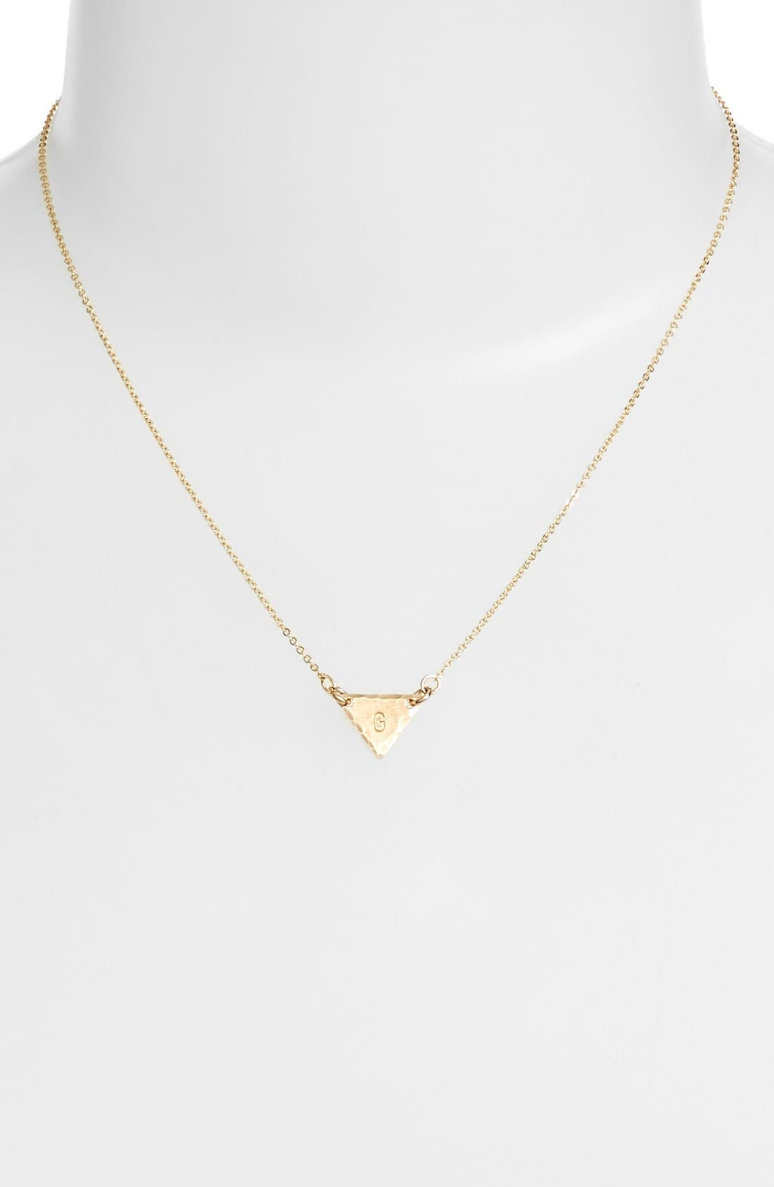 14k-Gold Fill Initial Triangle Necklace,                             Alternate thumbnail 33, color,