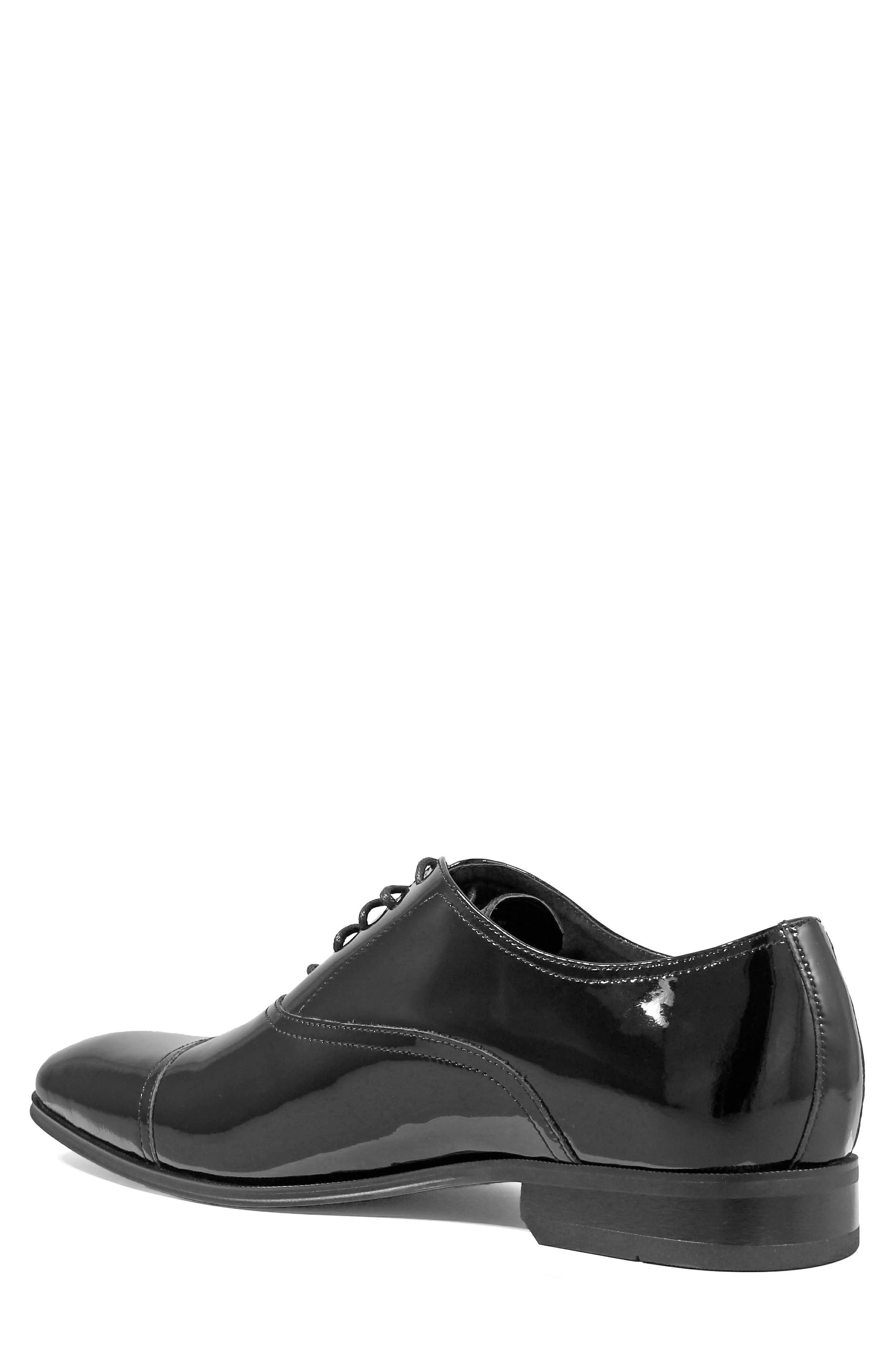 Tux Cap Toe Oxford,                             Alternate thumbnail 2, color,                             BLACK PATENT LEATHER