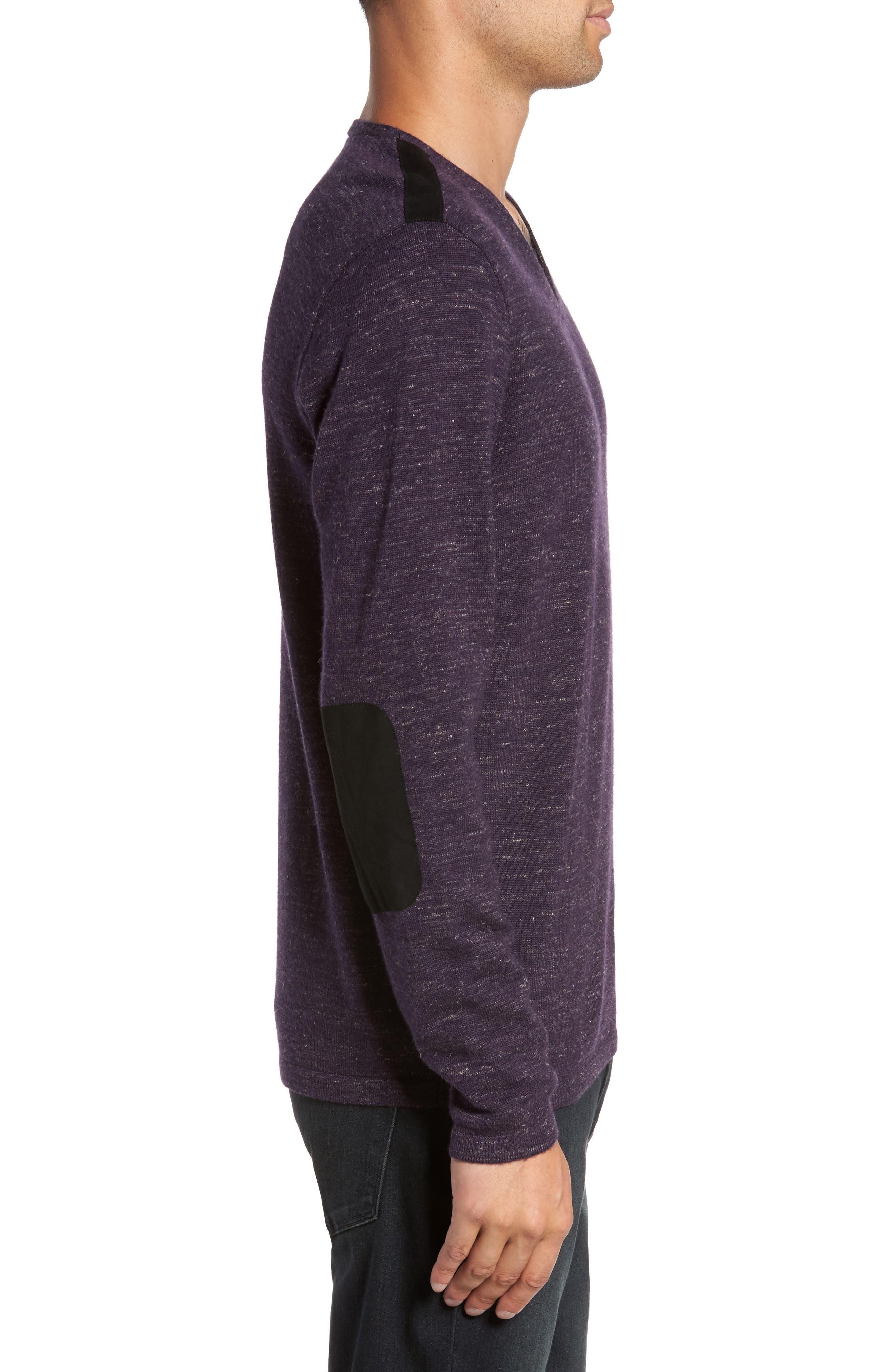 Long Sleeve V-Neck Sweater,                             Alternate thumbnail 9, color,
